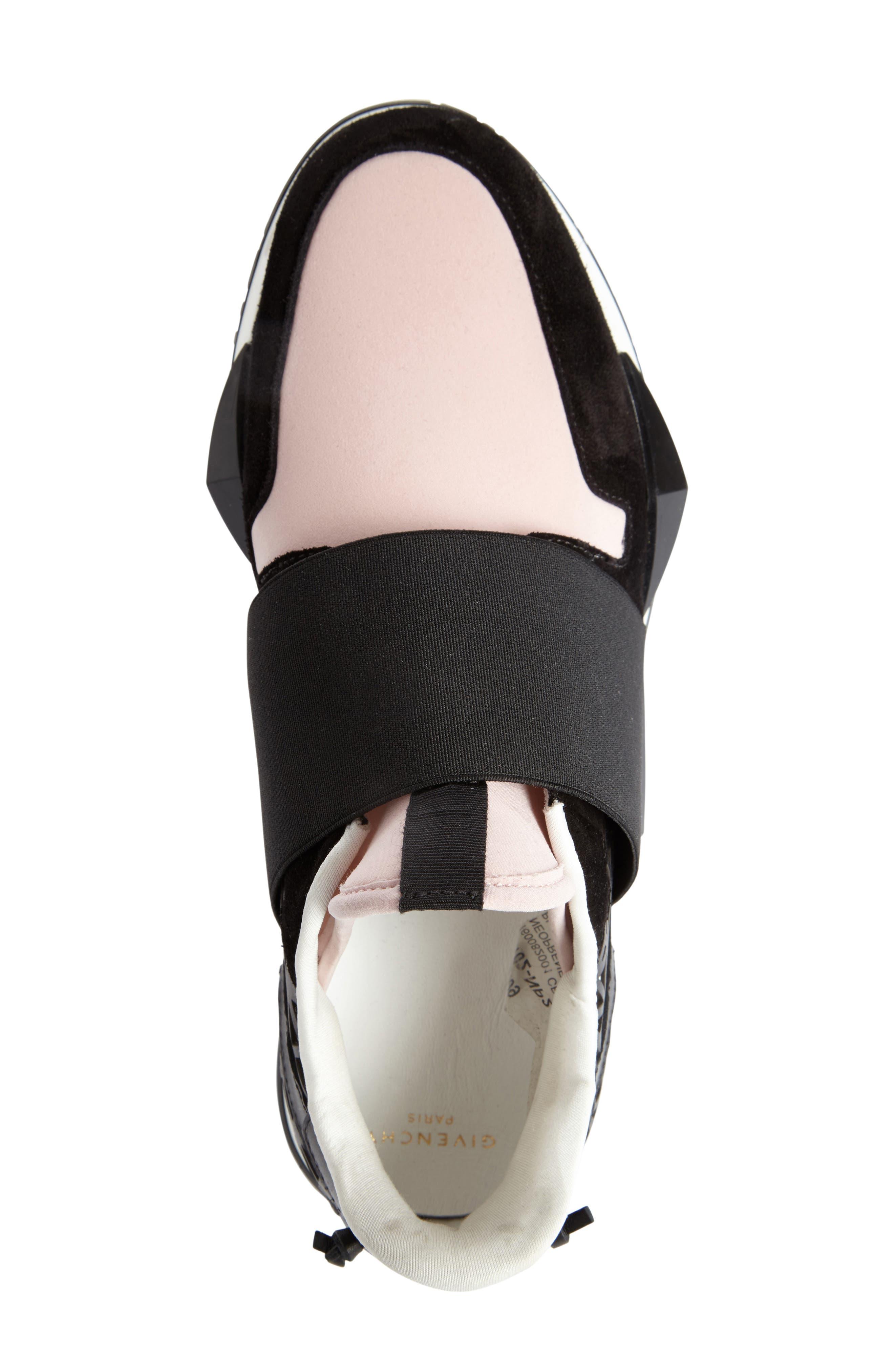 Slip-On Sneaker,                             Alternate thumbnail 3, color,                             Black/ Pink