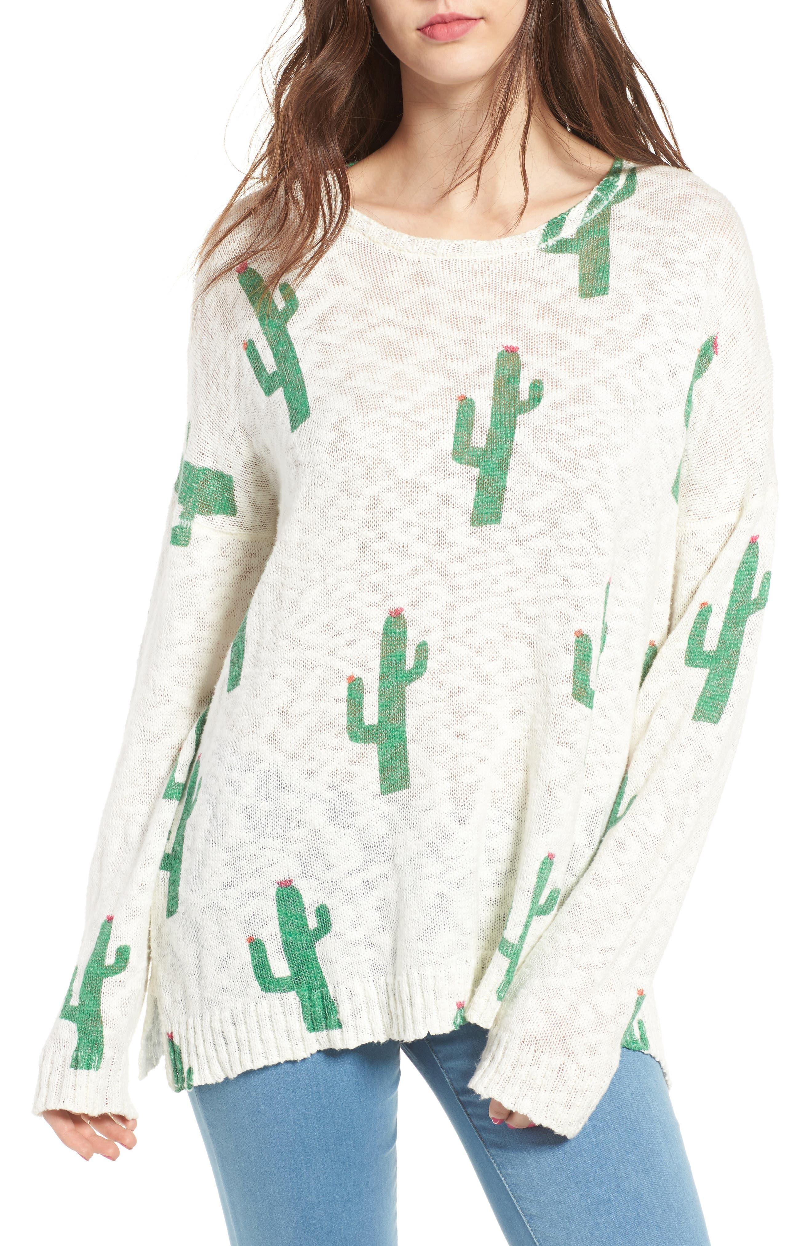 Varsity Pullover,                         Main,                         color, Cactus Crew
