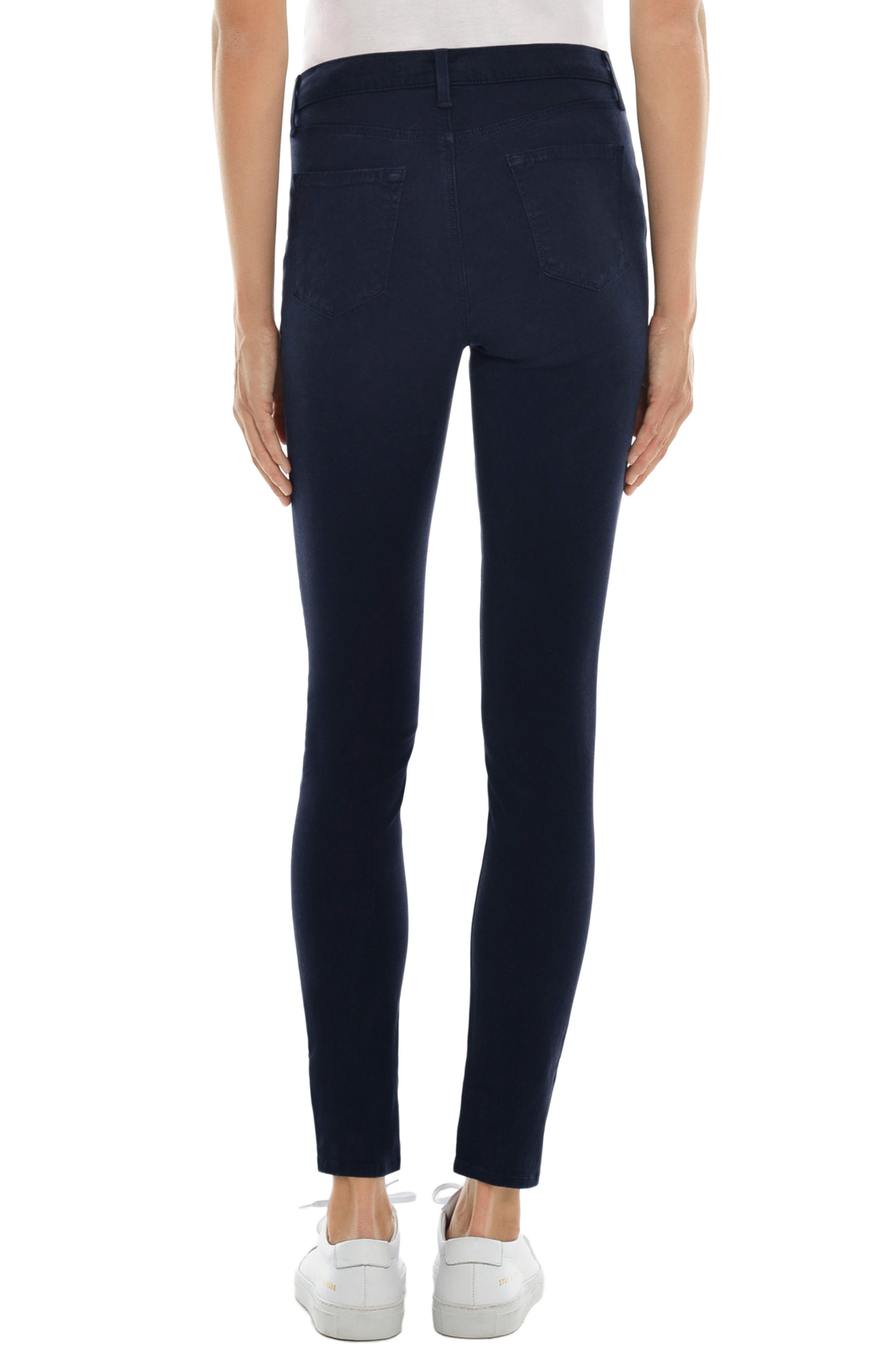 Alternate Image 2  - J Brand Mama J Luxe Sateen Maternity Skinny Jeans (Dark Navy)