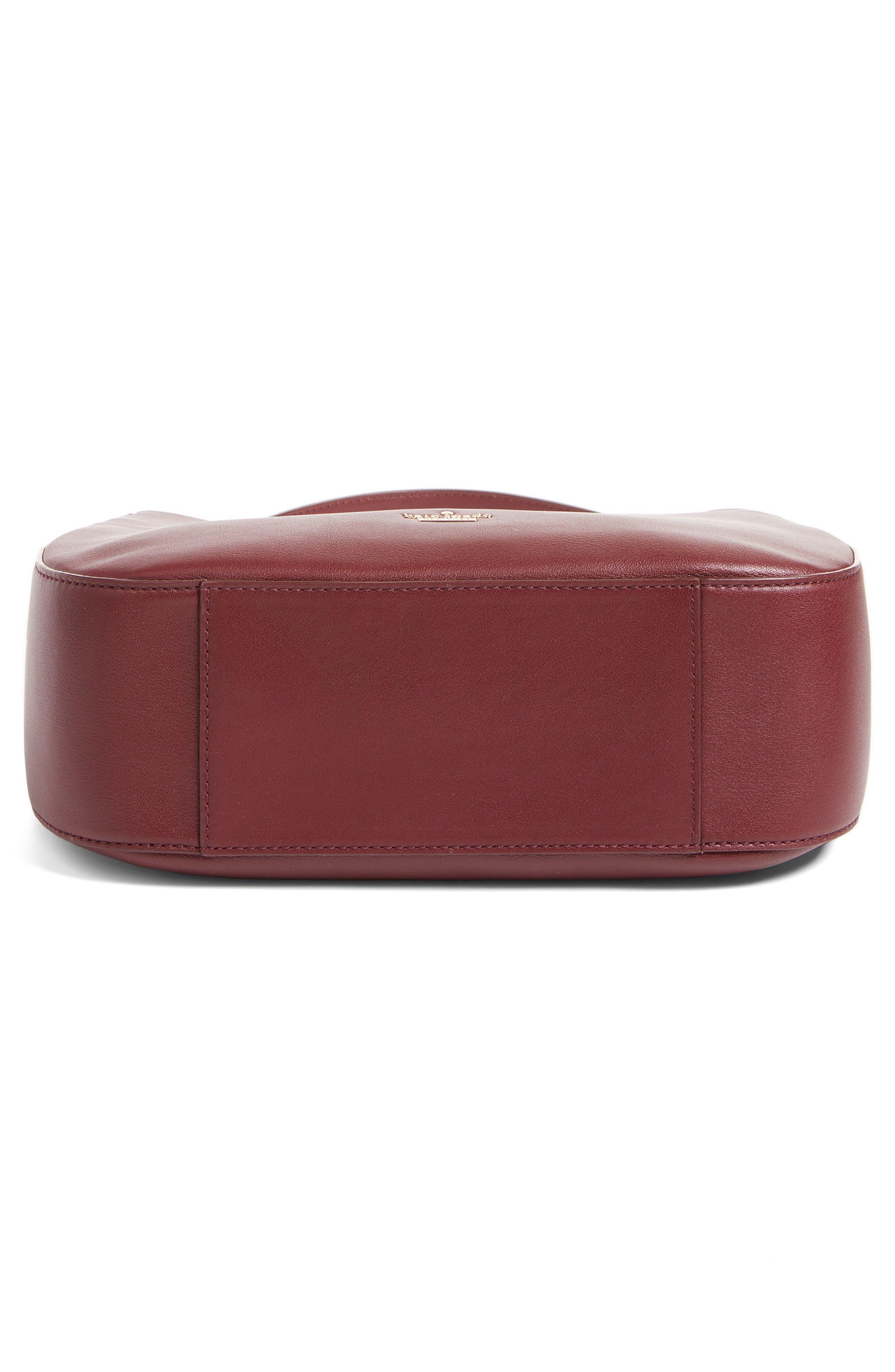 robson lane sana leather shoulder bag,                             Alternate thumbnail 6, color,                             Cherry Wood