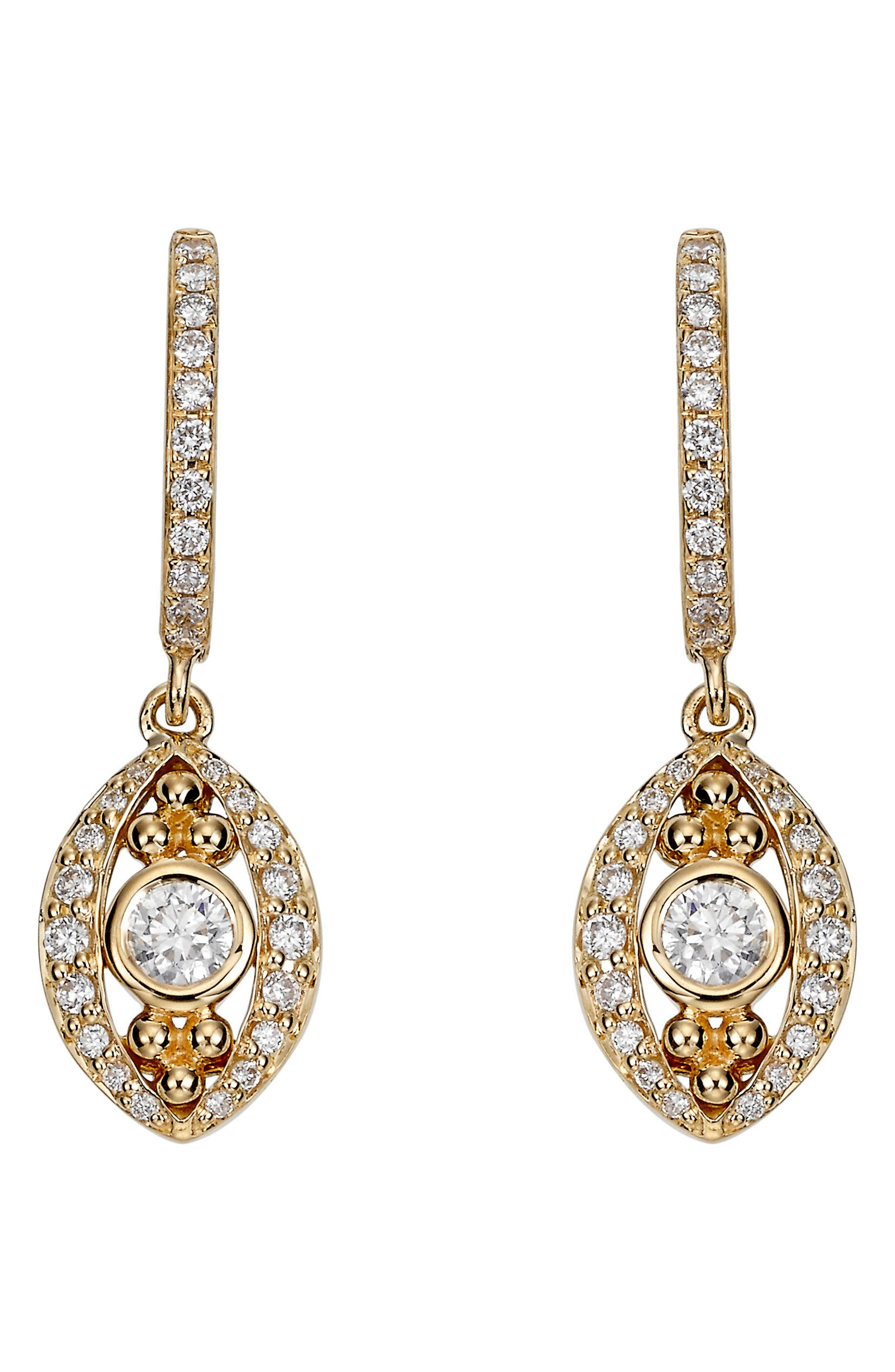 TEMPLE ST CLAIR Temple St. Clair Evil Eye Diamond Drop Earrings