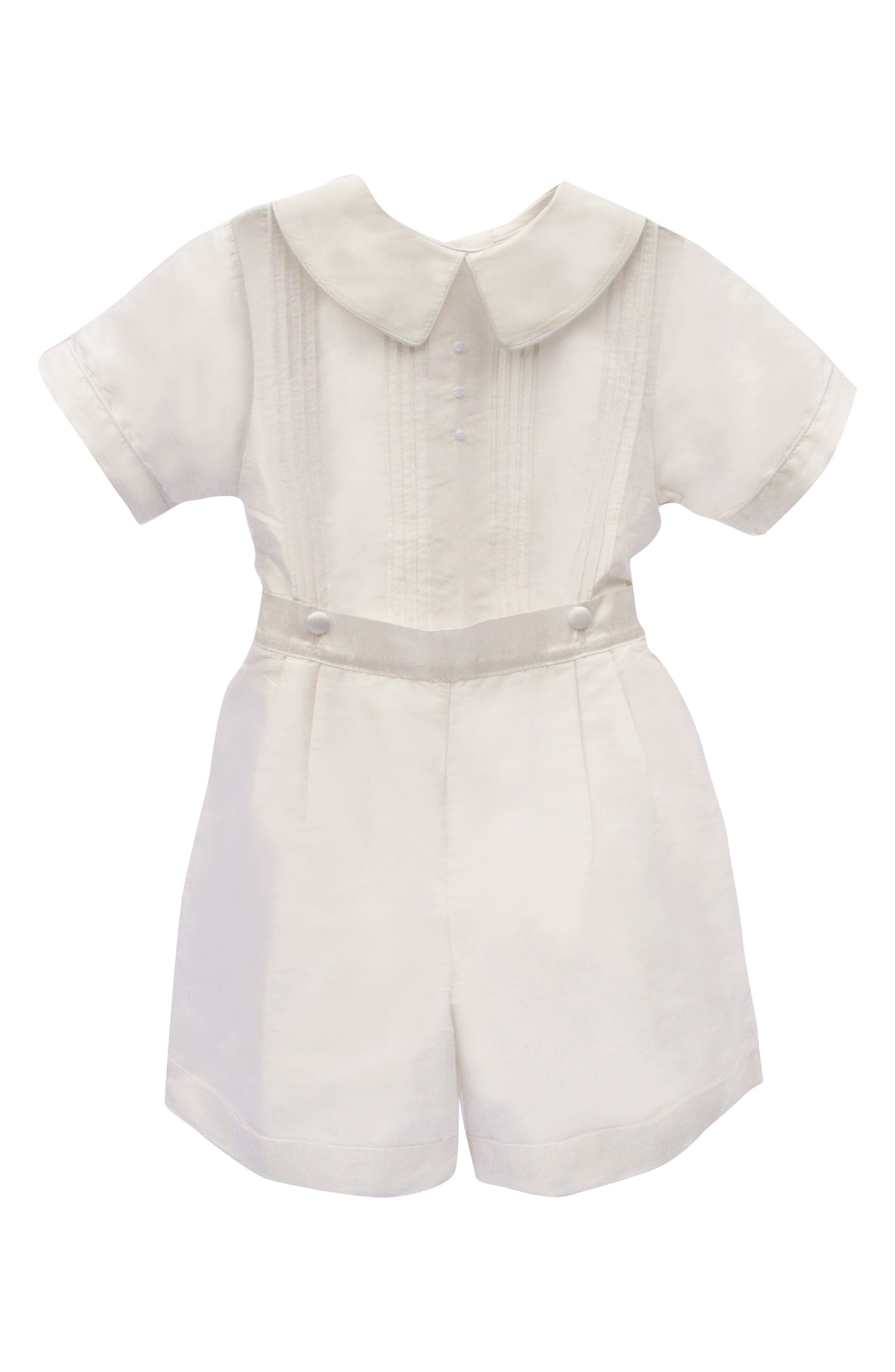 Isabel Garreton Sebastian Silk Shirt & Pants Set (Baby Boys)
