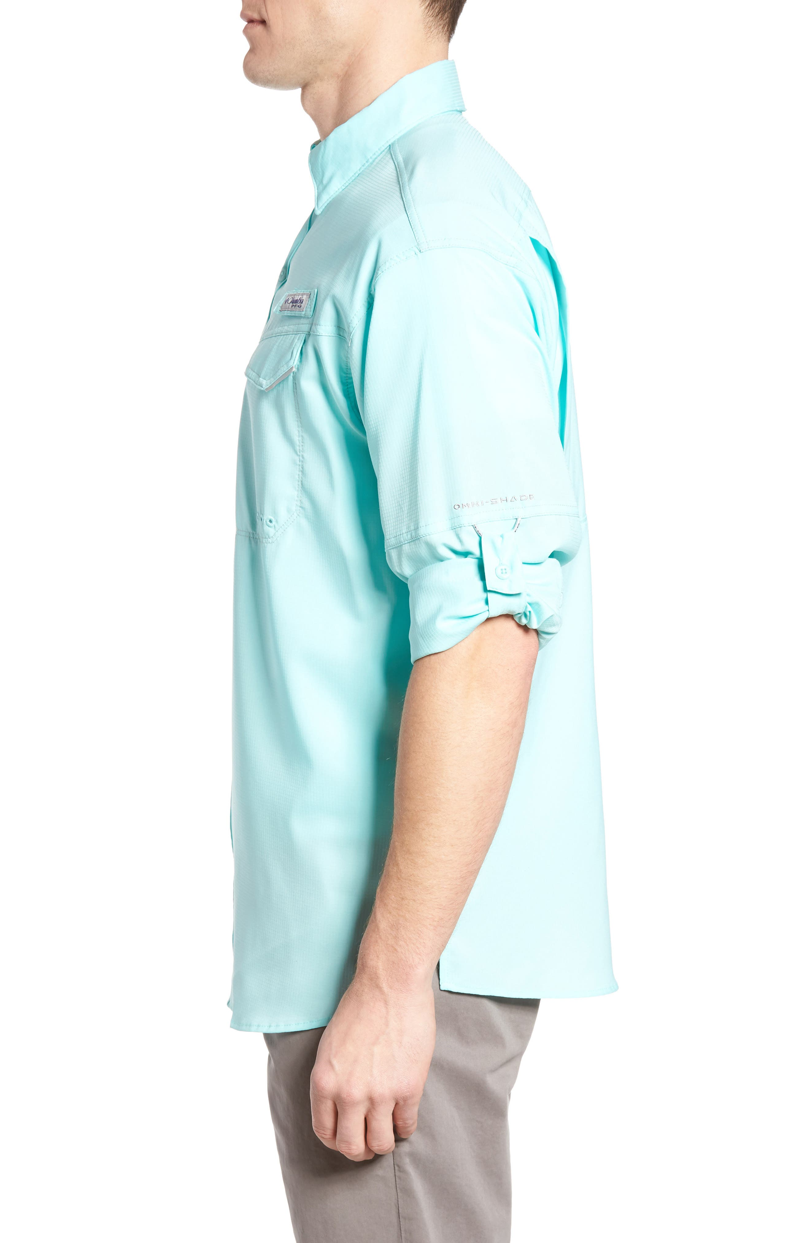 Low Drag Offshore Woven Shirt,                             Alternate thumbnail 3, color,                             Gulf Stream