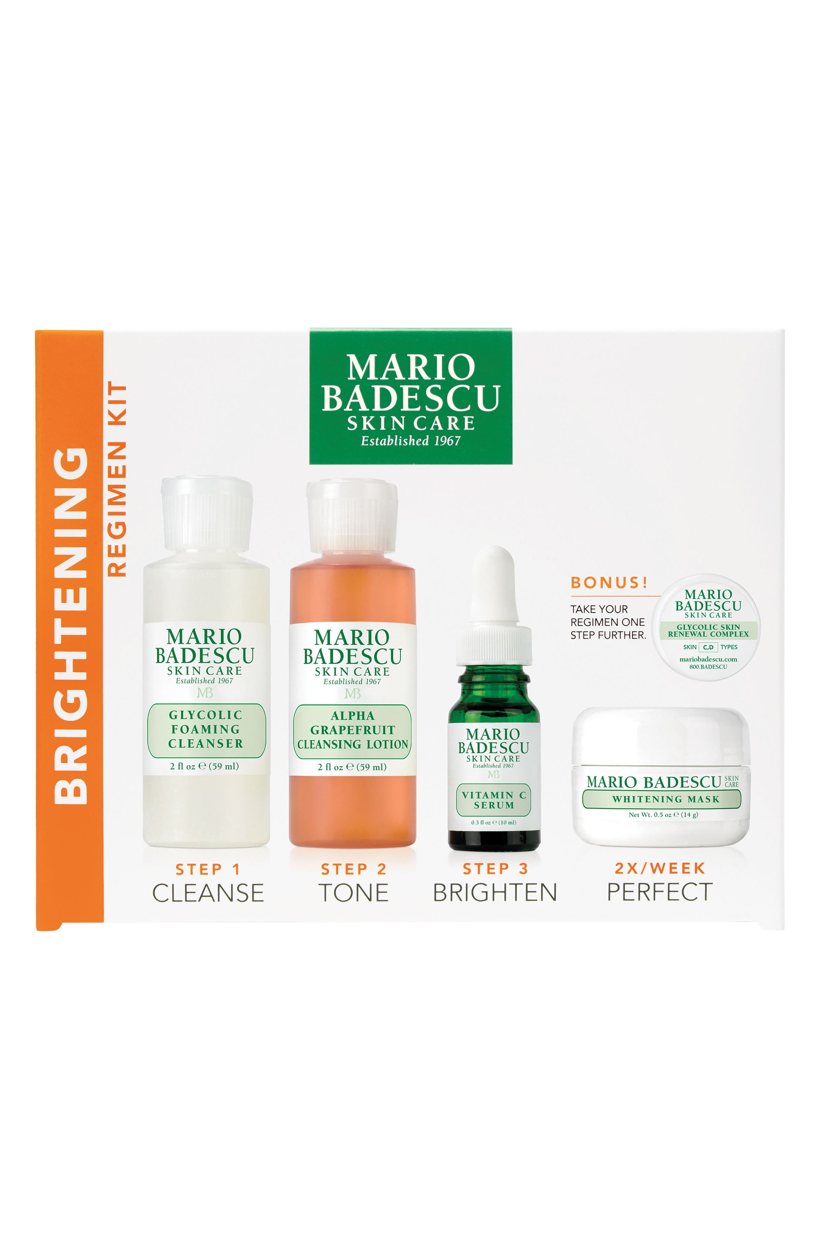 Alternate Image 1 Selected - Mario Badescu Brightening Regimen Kit ($50 Value)