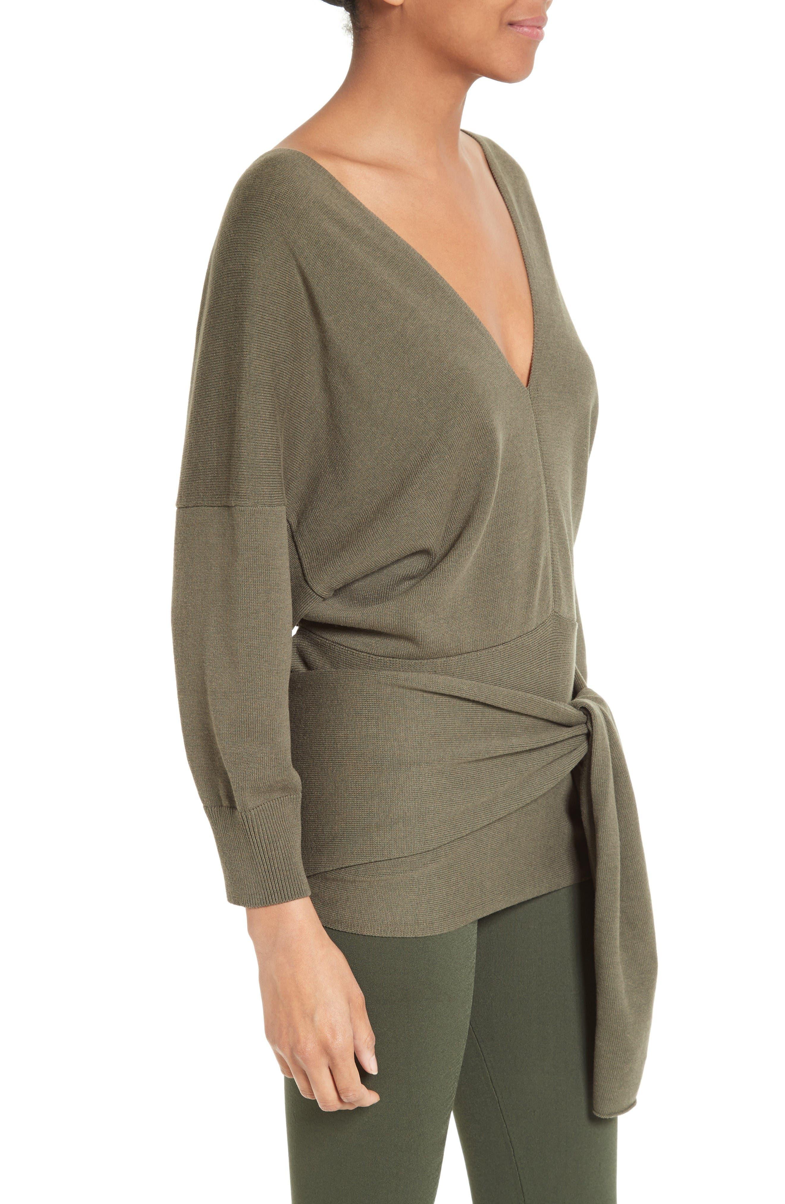 Alternate Image 4  - JOSEPH Tie Detail V-Neck Sweater