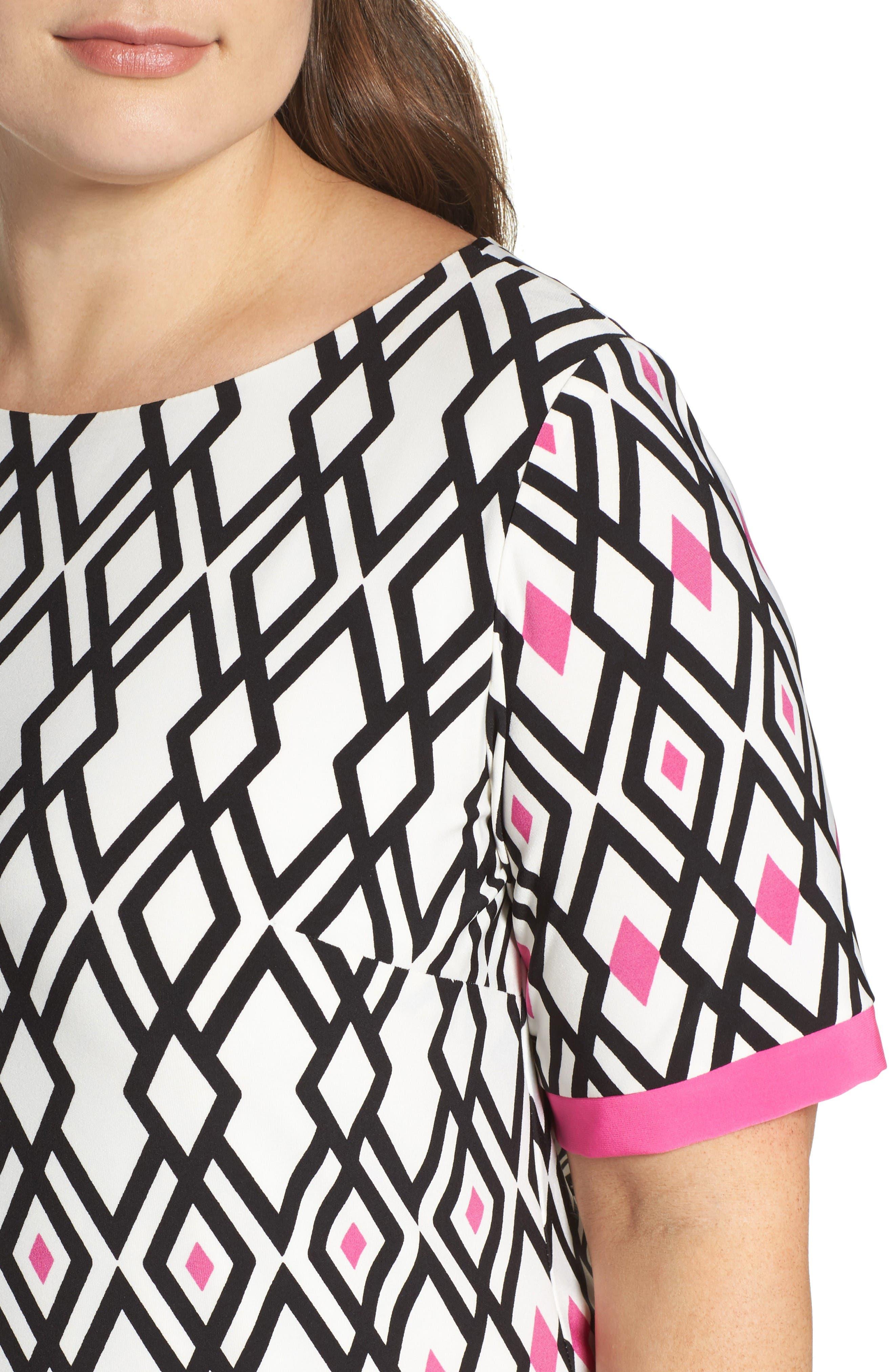 Alternate Image 4  - Eliza J Graphic Print Shift Dress (Plus Size)