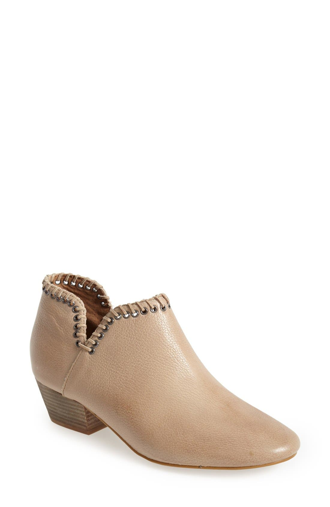 Alternate Image 1 Selected - SIXTYSEVEN 'Sasha' Whipstitch Trim Leather Bootie (Women)