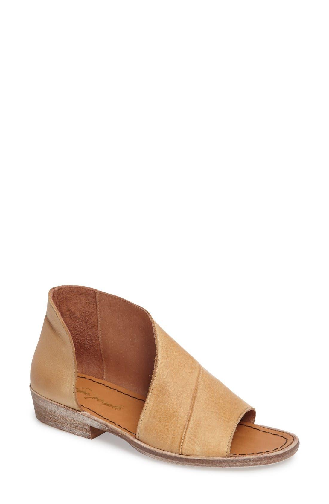 'Mont Blanc' Asymmetrical Sandal,                             Main thumbnail 1, color,                             Natural Leather