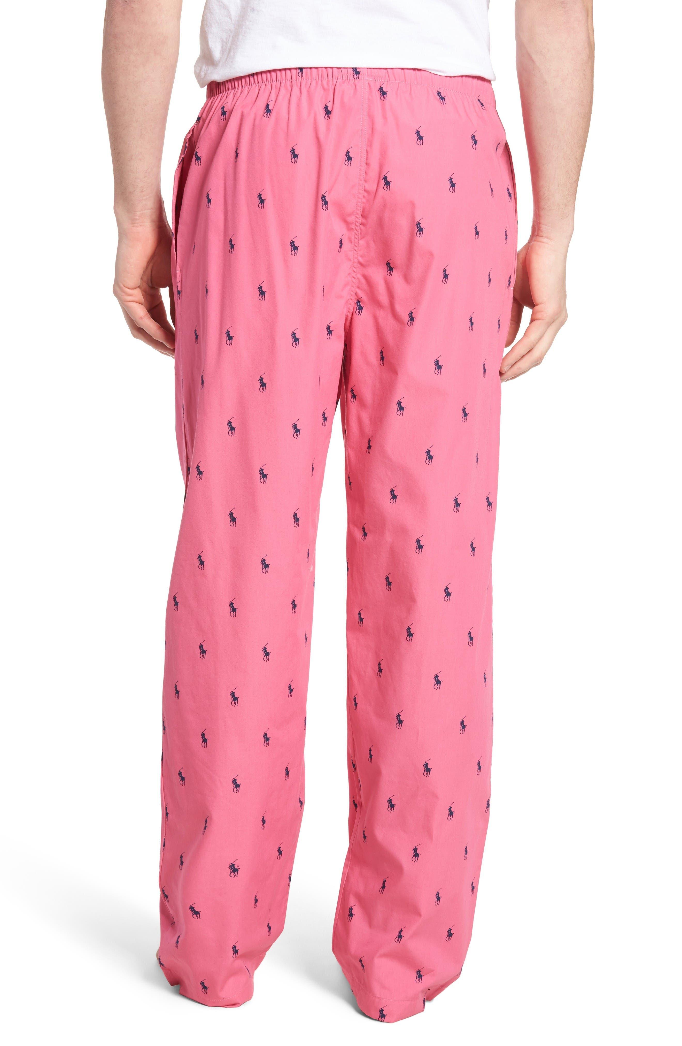 Cotton Lounge Pants,                             Alternate thumbnail 2, color,                             Madison Pink