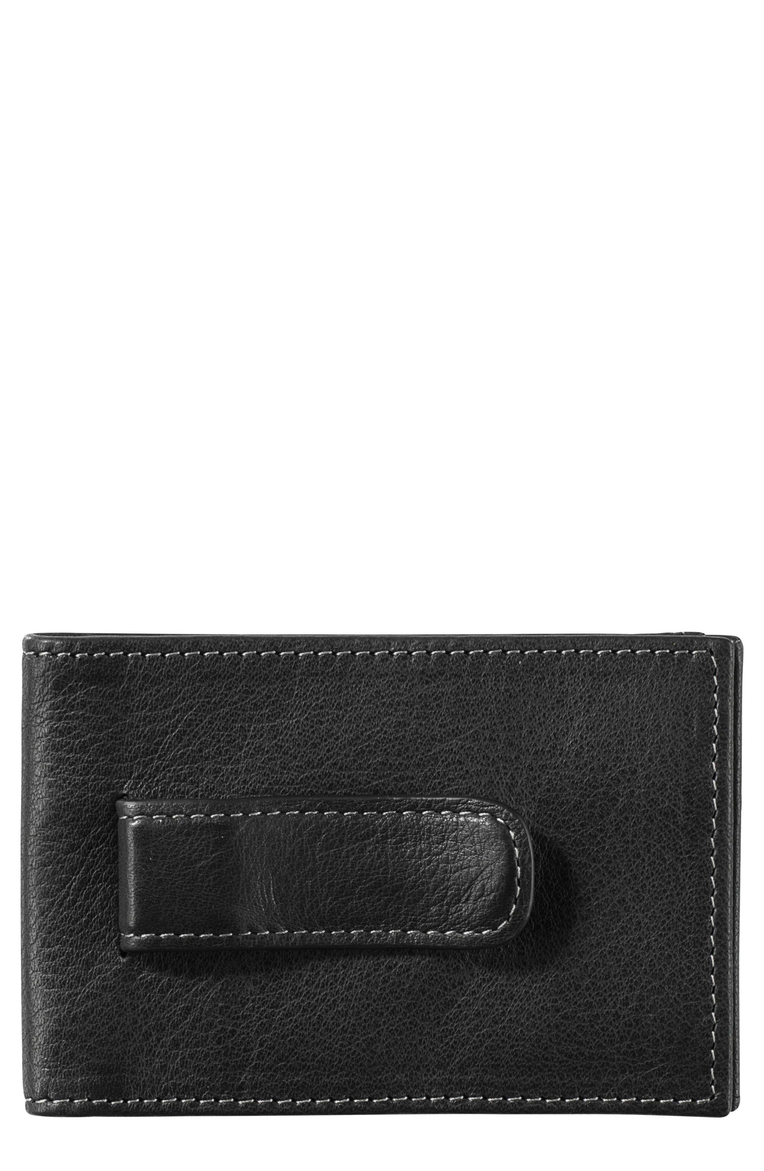 Johnston & Murphy Leather Money Clip Wallet