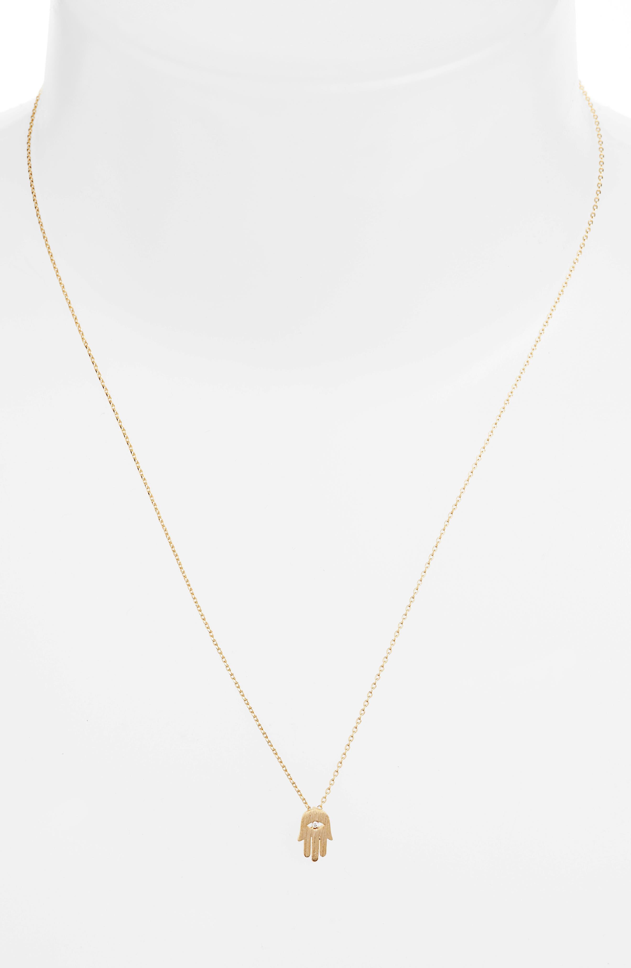 Alternate Image 2  - Estella Bartlett Shine Bright Hamsa Necklace