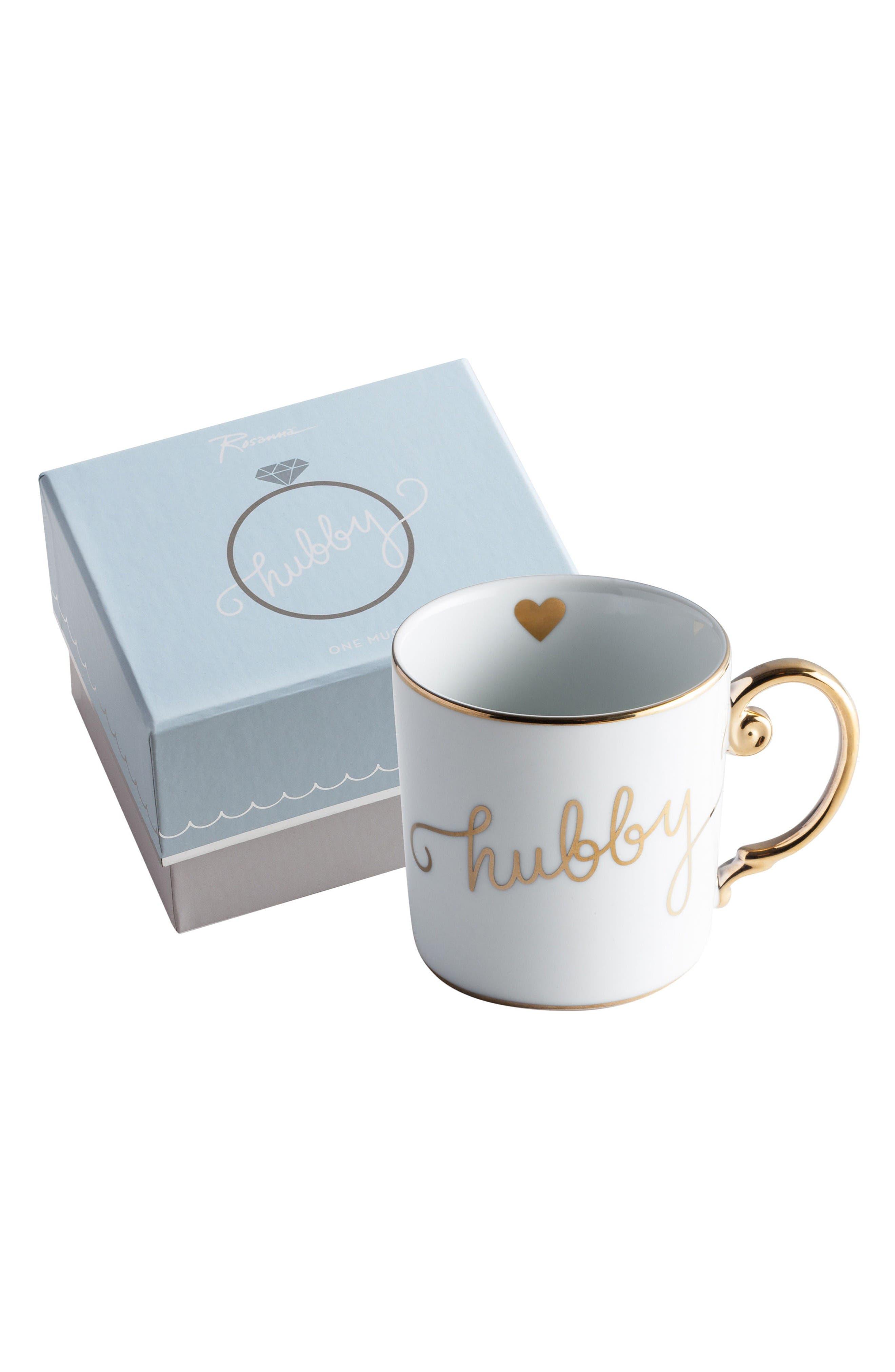 Rosanna Hubby/Wifey Porcelain Mug