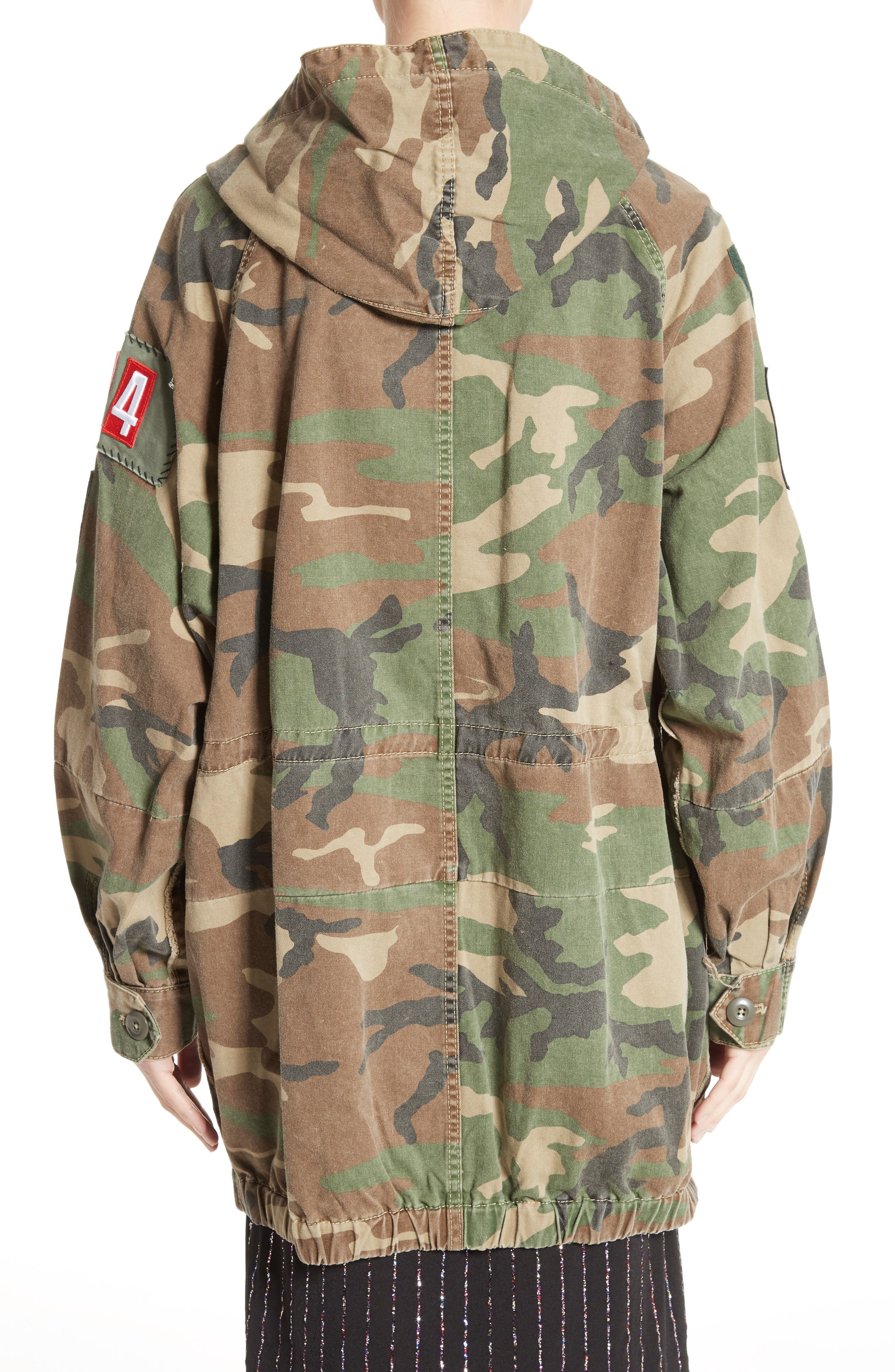 Alternate Image 2  - MARC JACOBS Camo Print Hooded Anorak