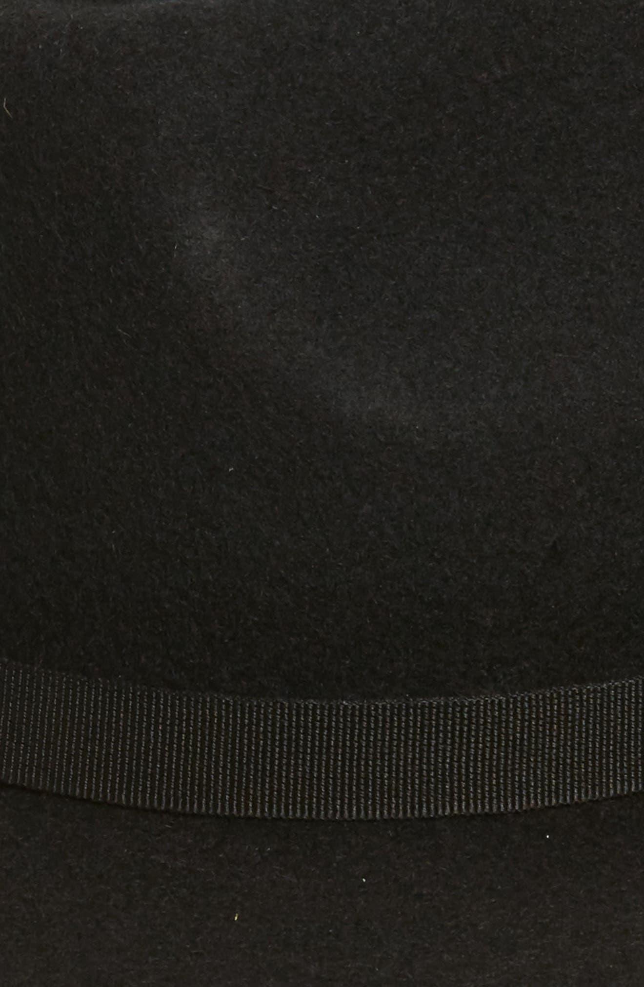 Wool Felt Hat,                             Alternate thumbnail 2, color,                             Black