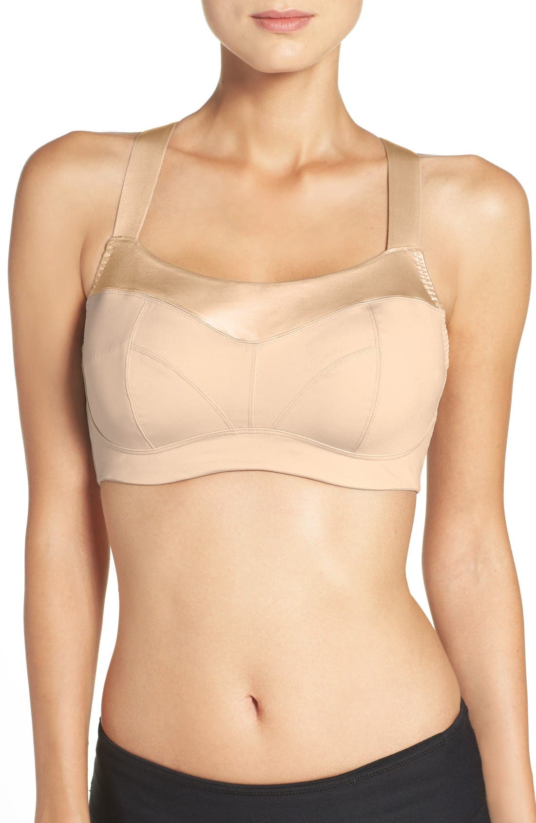 Embody Underwire Sports Bra,                             Main thumbnail 1, color,                             Latte