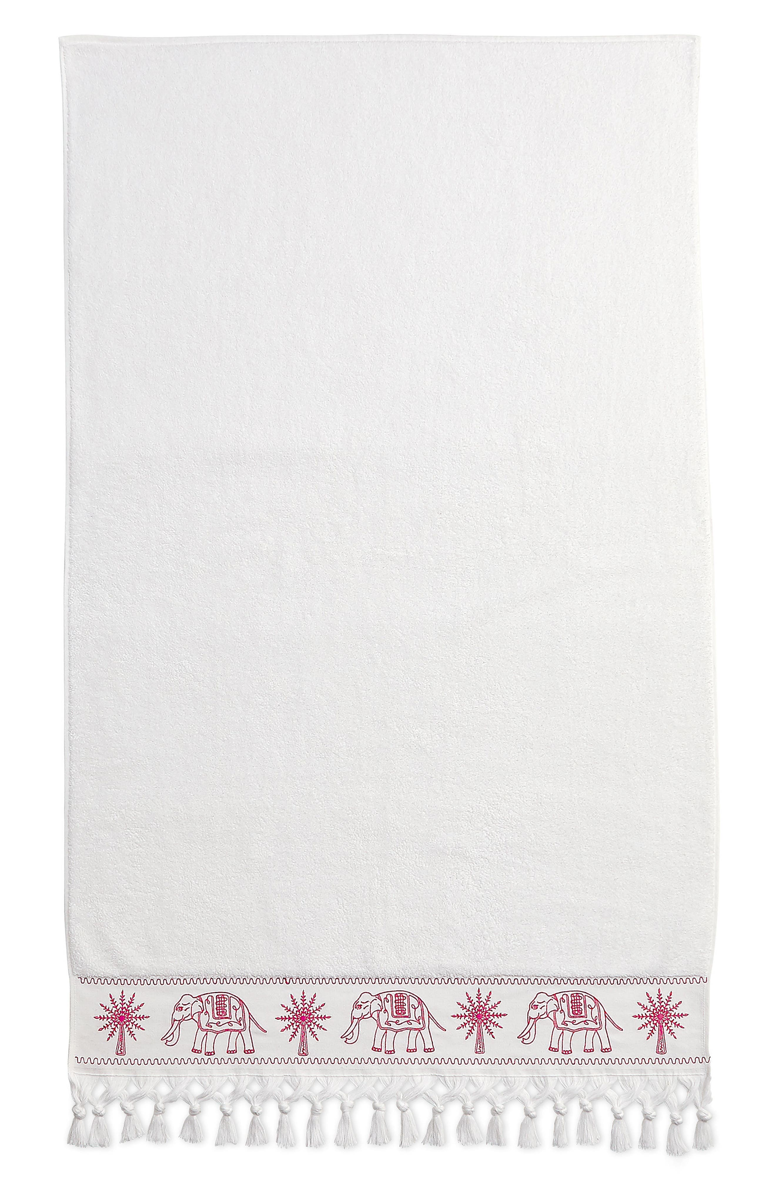 Yaji Bath Towel,                         Main,                         color, Pink