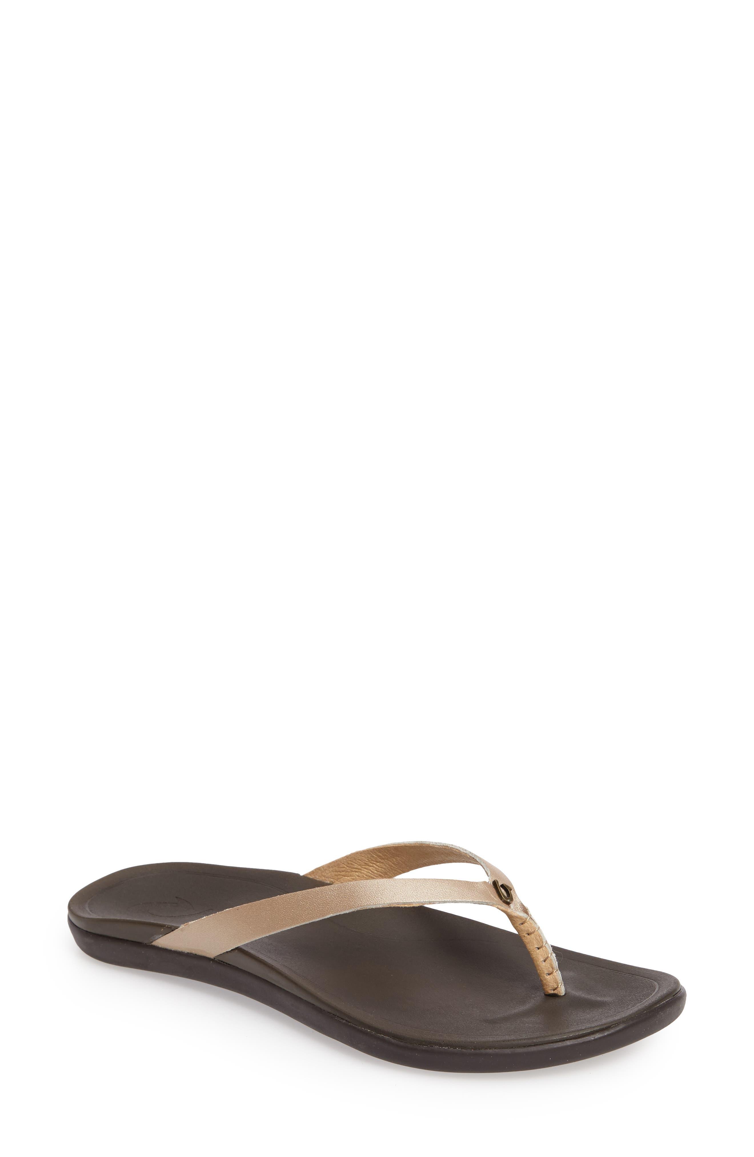 Main Image - OluKai 'Ho Opio' Leather Flip Flop (Women)