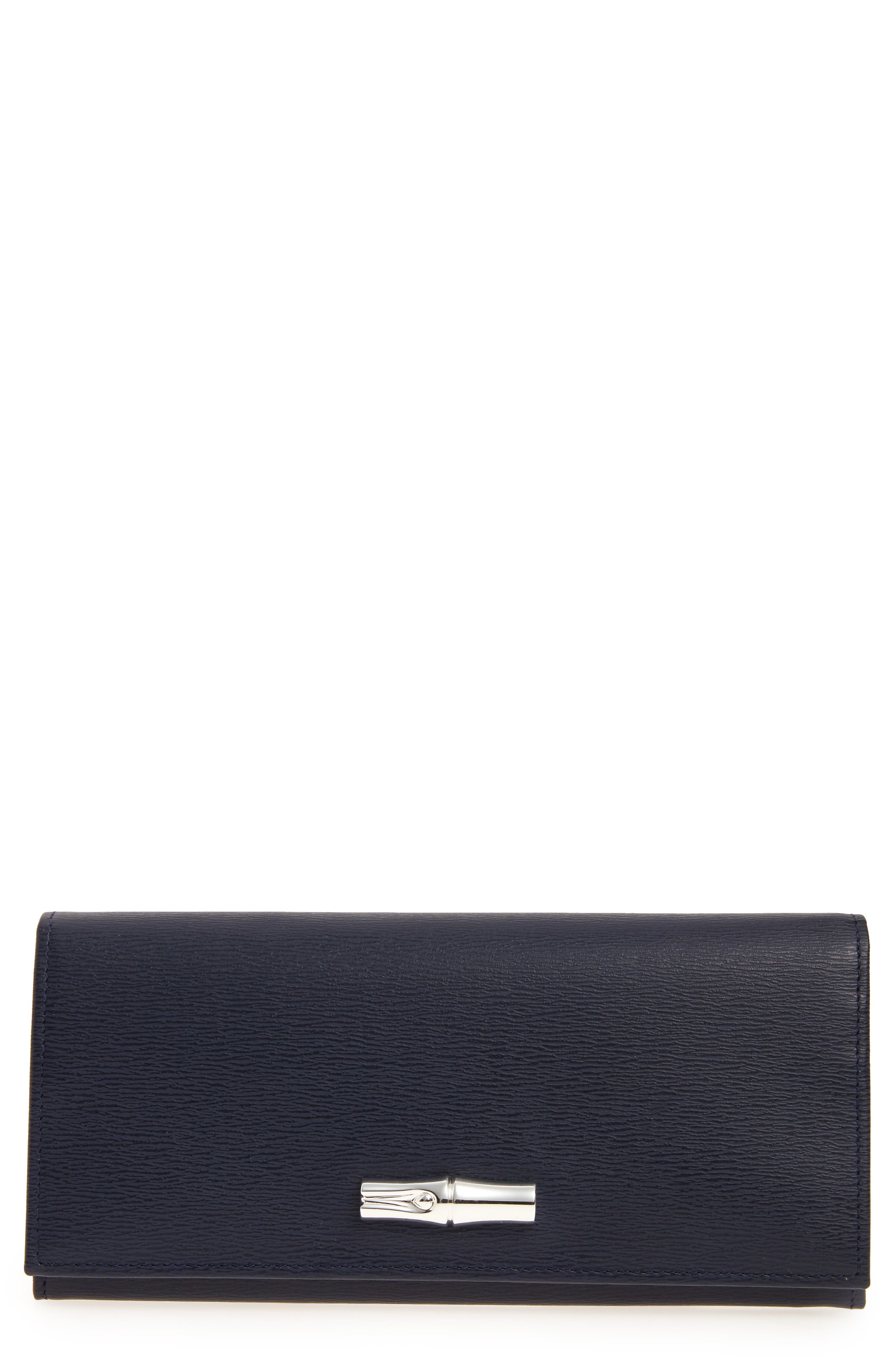Main Image - Longchamp Roseau Leather Continental Wallet