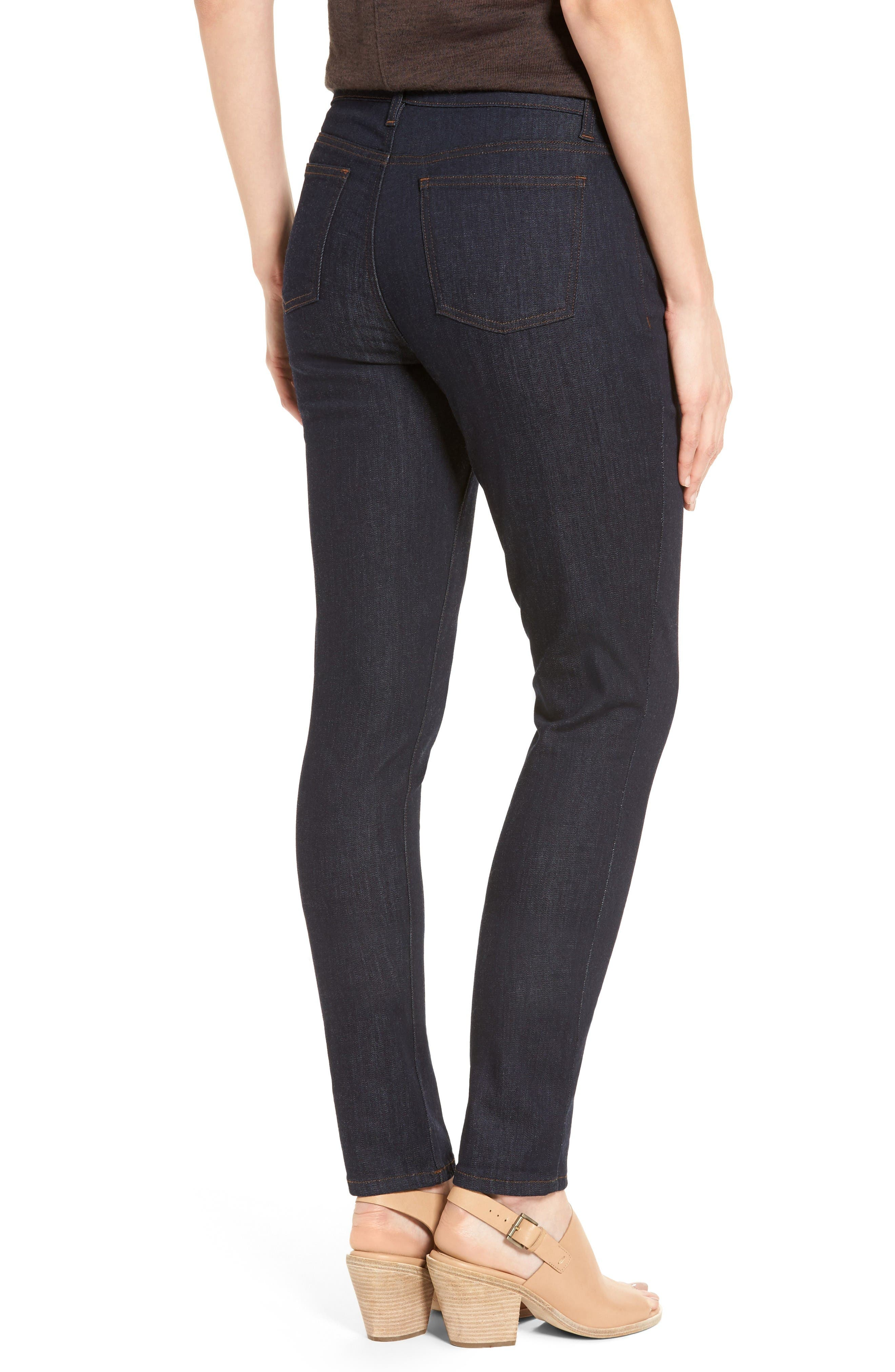 Alternate Image 2  - Eileen Fisher Stretch Skinny Jeans (Regular & Petite)