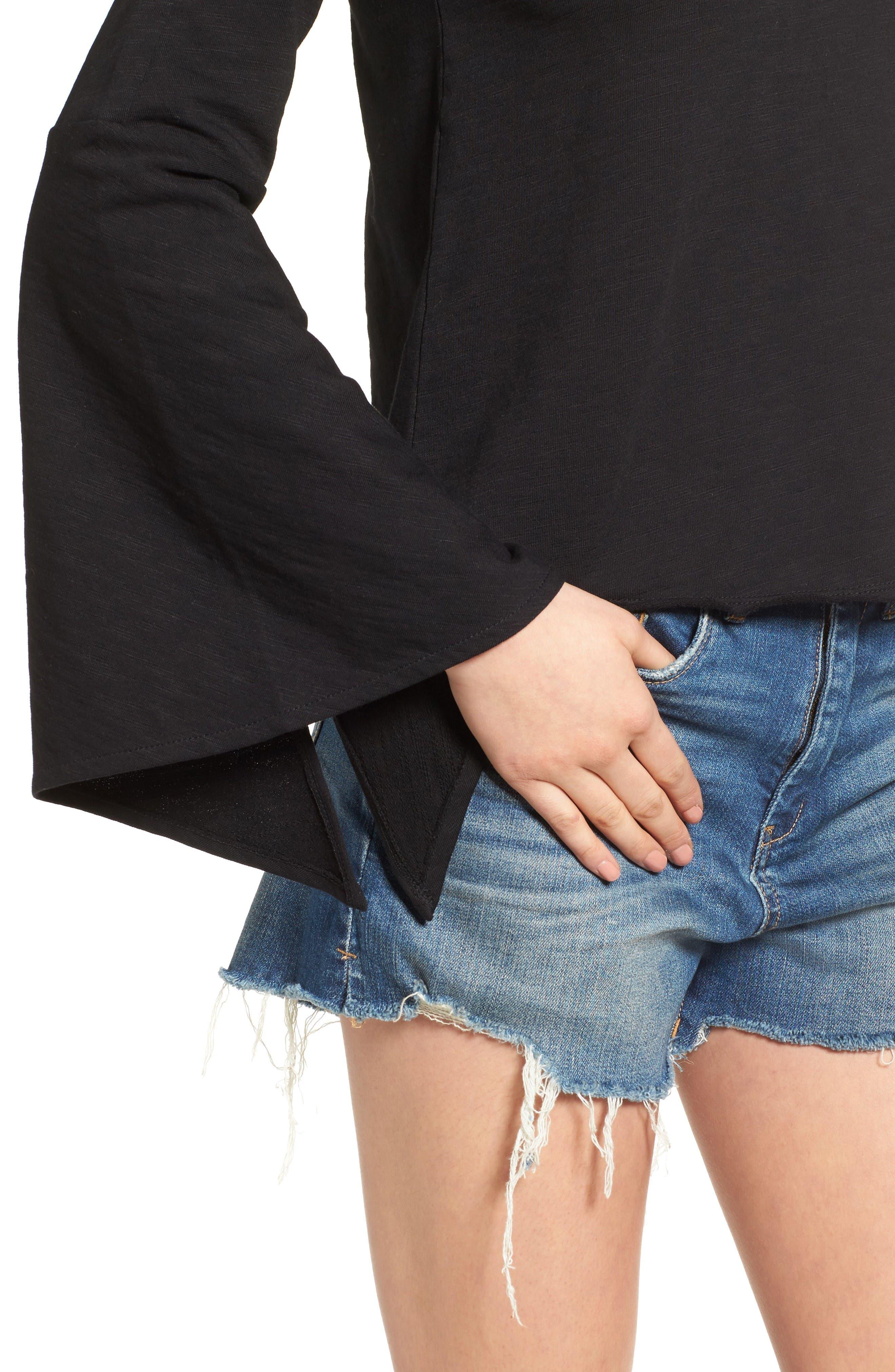 Alternate Image 4  - BLANKNYC Shadow Bell Sleeve Top