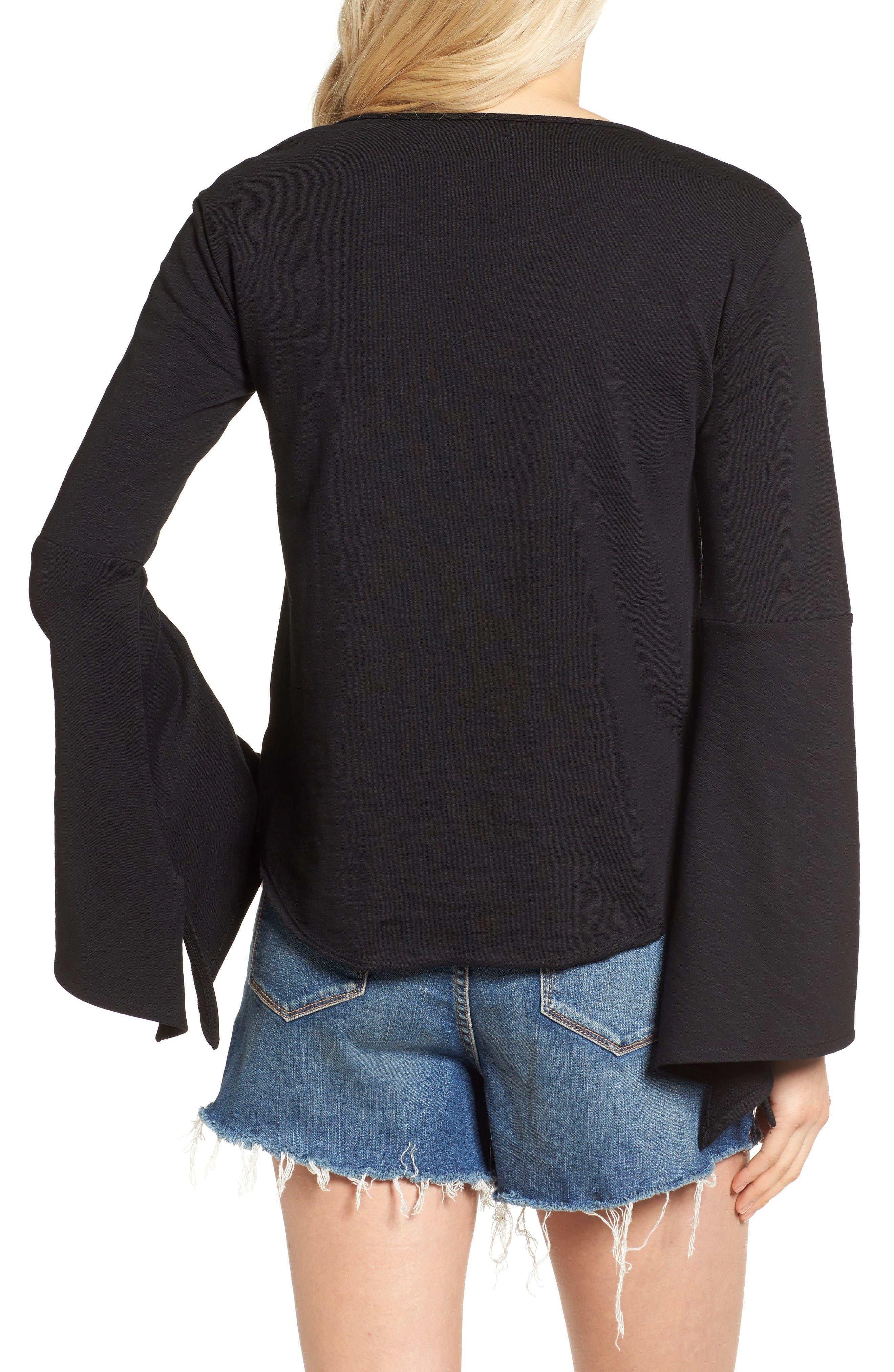 Alternate Image 2  - BLANKNYC Shadow Bell Sleeve Top