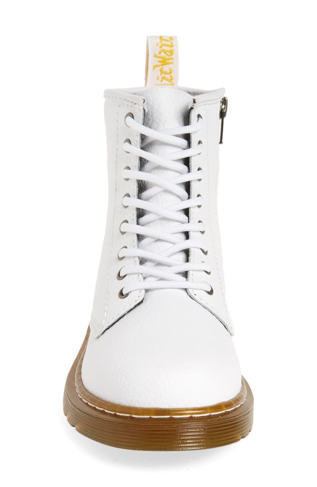 Delaney Pebbled Boot,                             Alternate thumbnail 3, color,                             White Pebble Leather