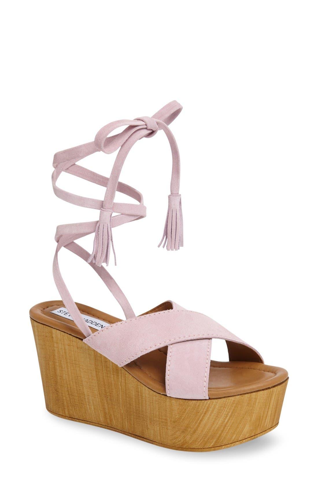 Alternate Image 1 Selected - Steve Madden Shella Platform Sandal (Women)