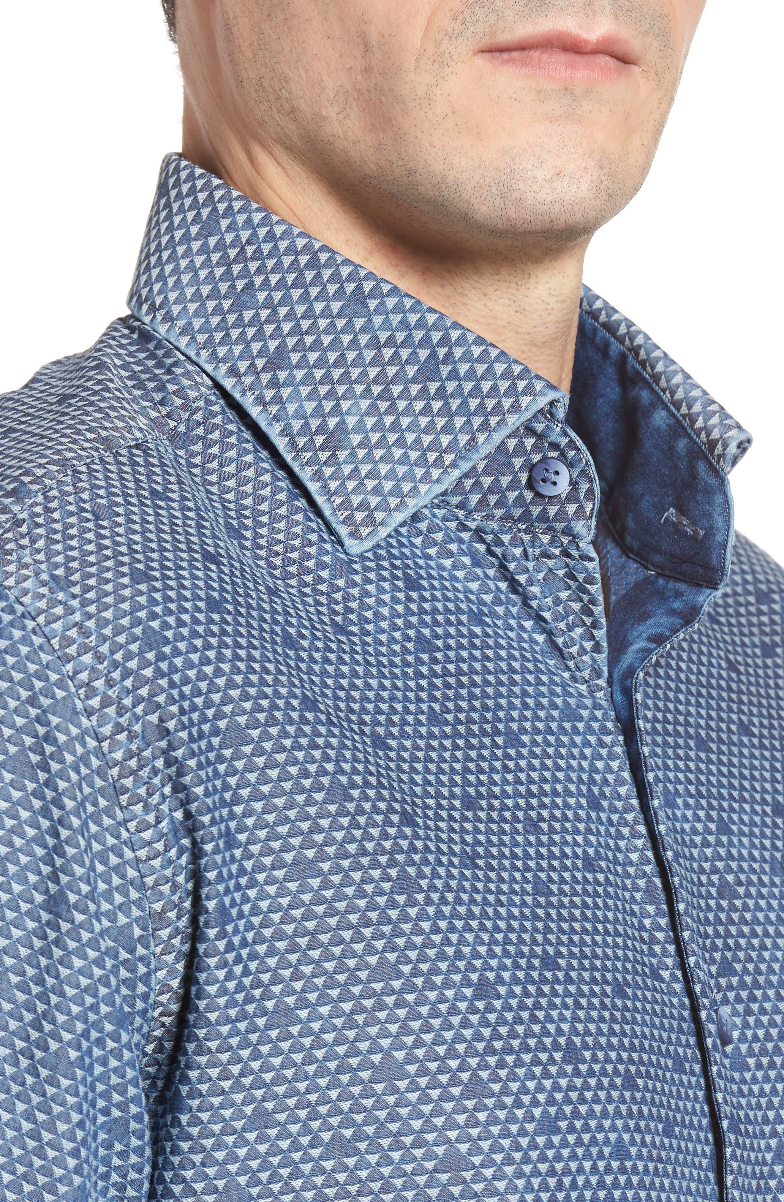 Alternate Image 4  - Stone Rose Triangle Jacquard Sport Shirt