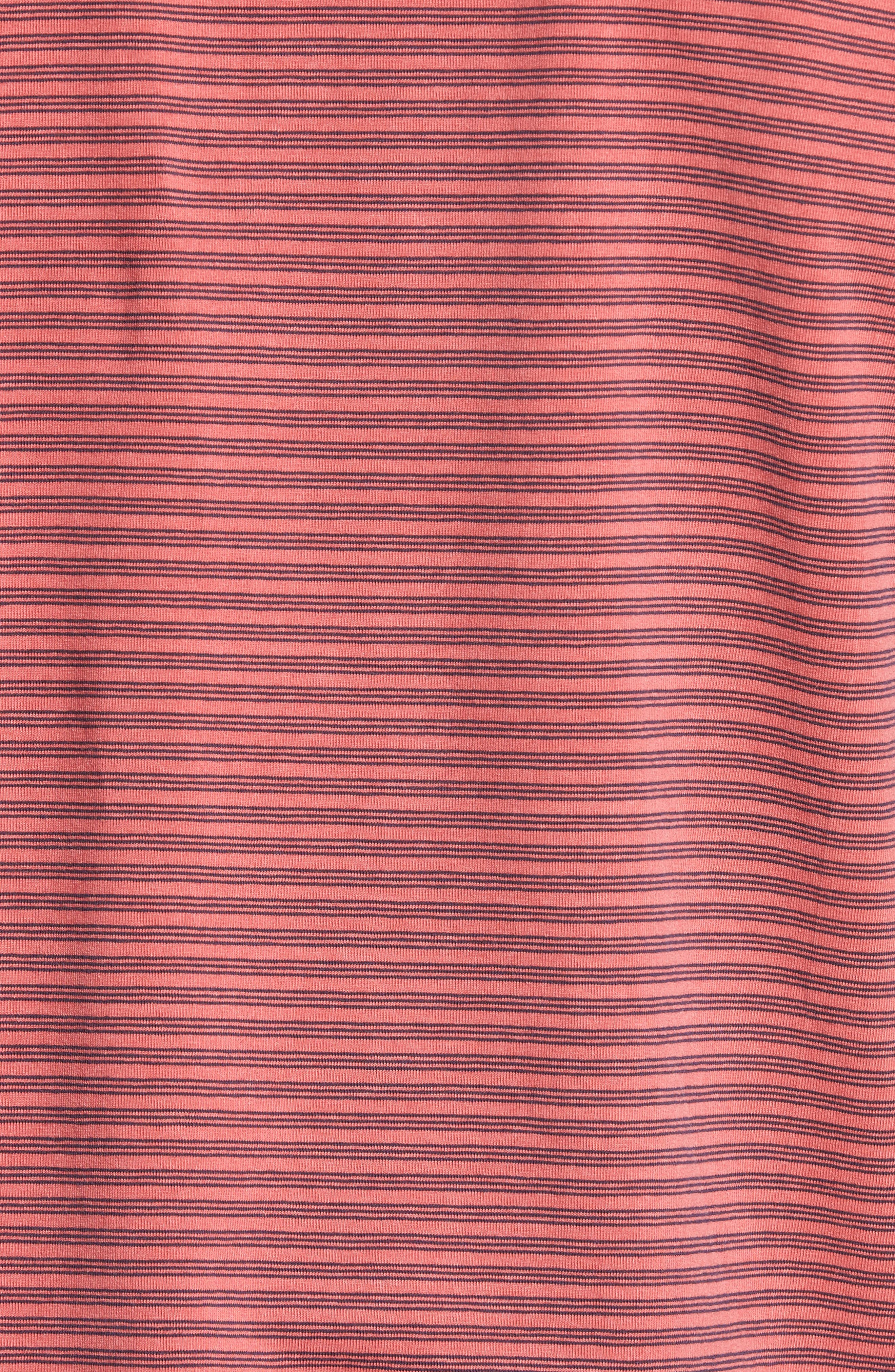 Ivan Stripe Stretch Jersey Polo,                             Alternate thumbnail 5, color,                             True Red