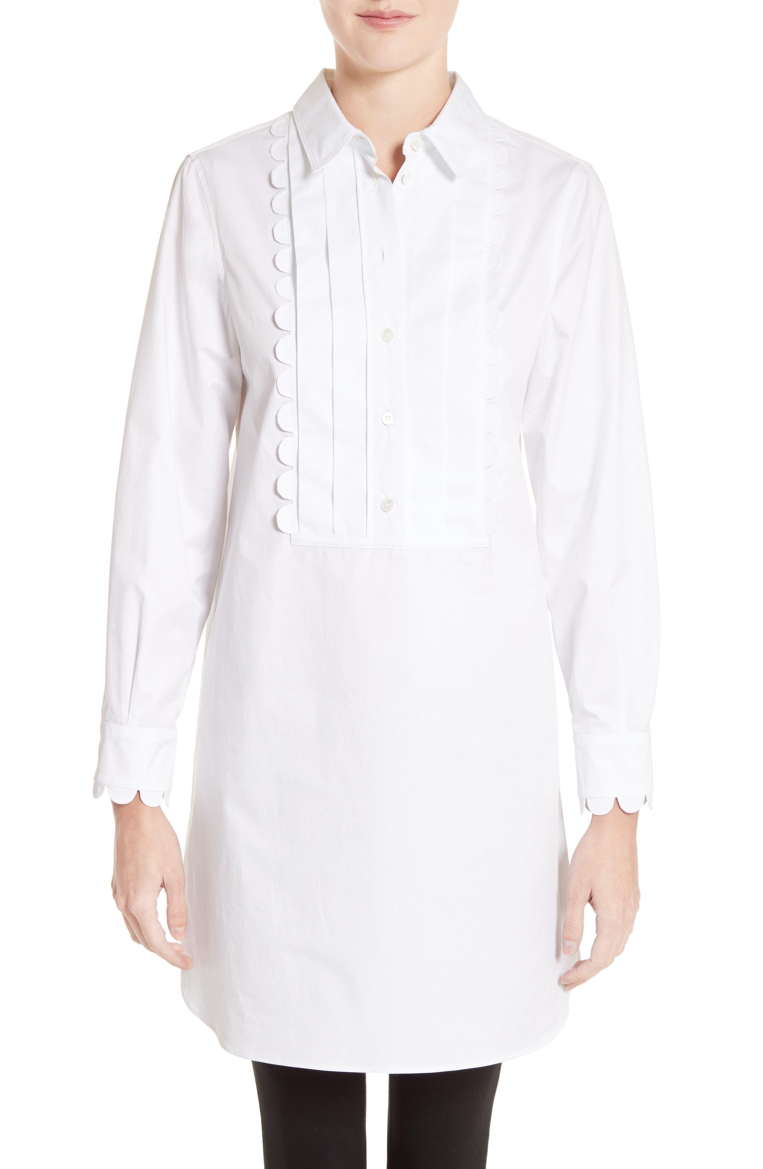 Ginger Bib Tunic,                         Main,                         color, White
