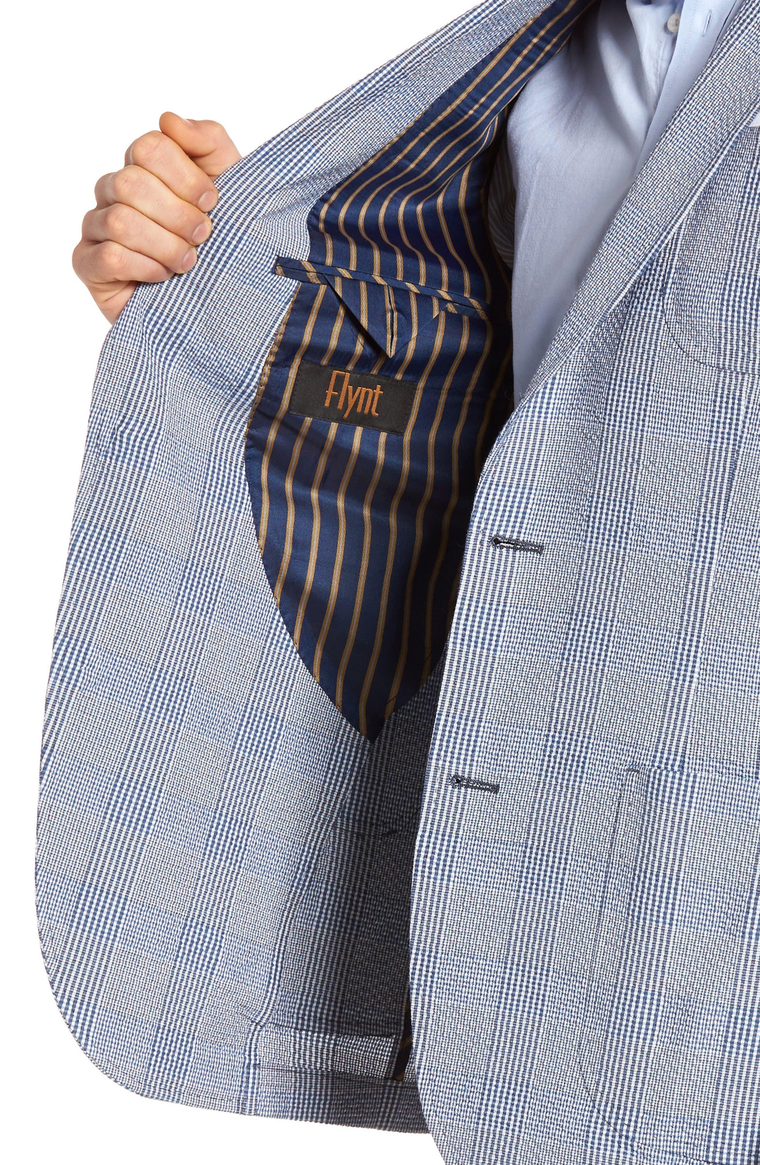 Babbitt Plaid Seersucker Sport Coat,                             Alternate thumbnail 4, color,                             Blue