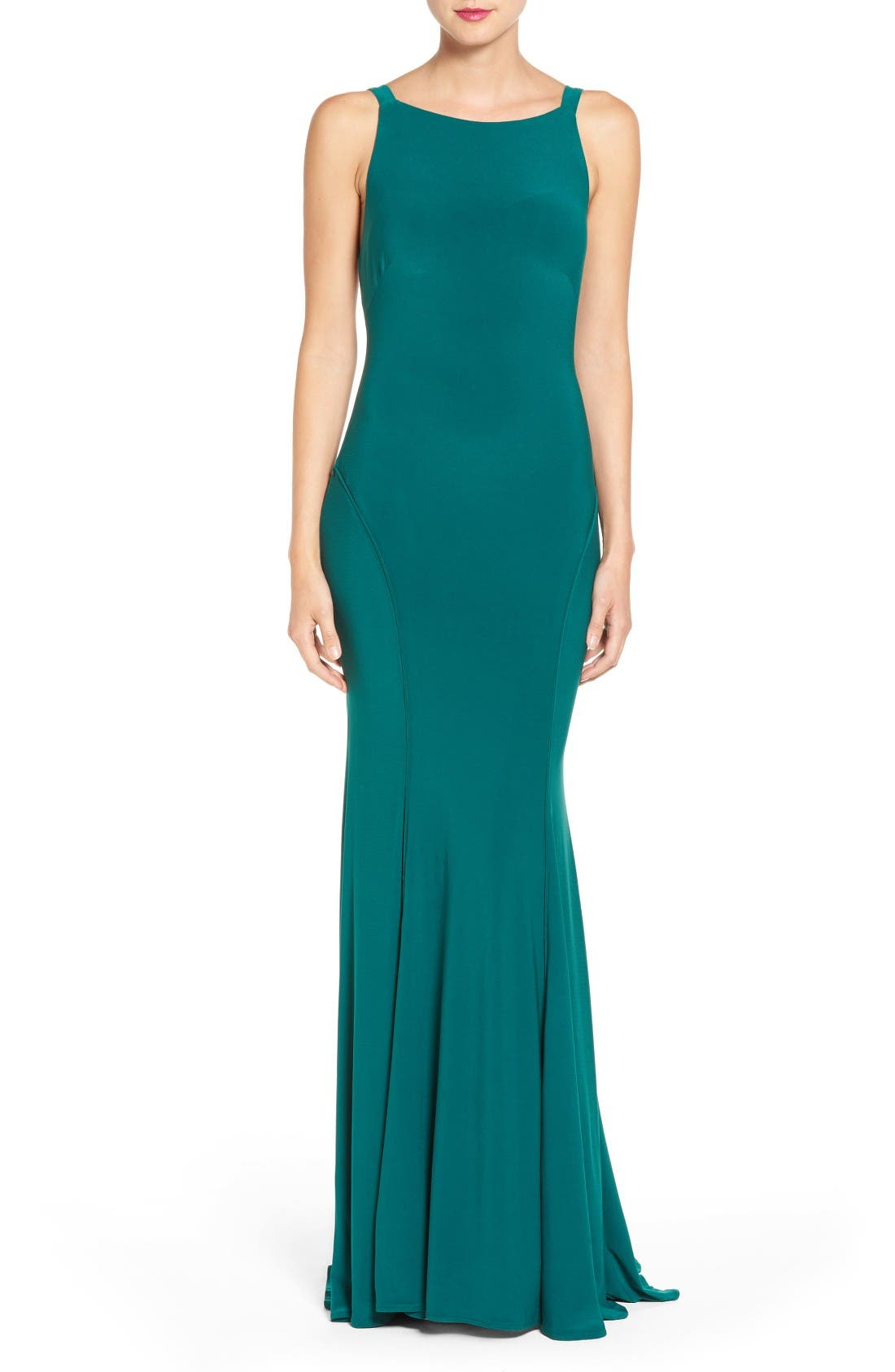 Ieena for Mac Duggal Jersey Gown