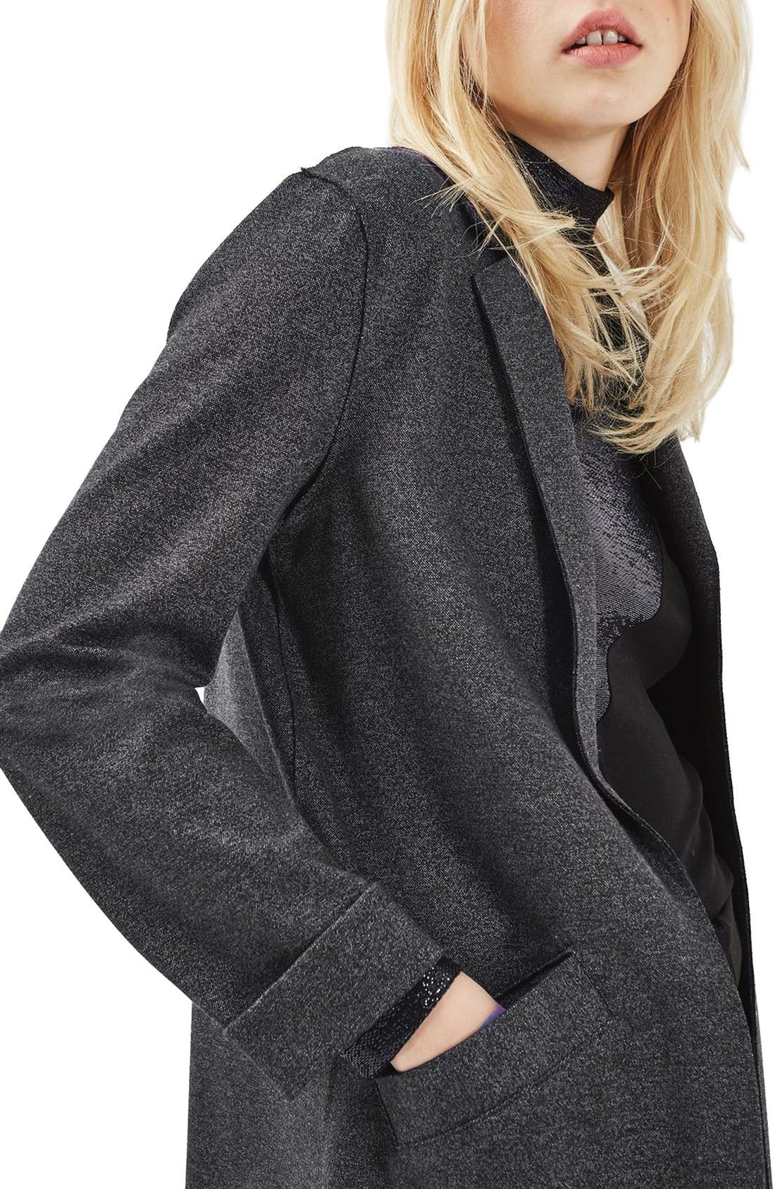 Alternate Image 5  - Topshop Open Front Blazer
