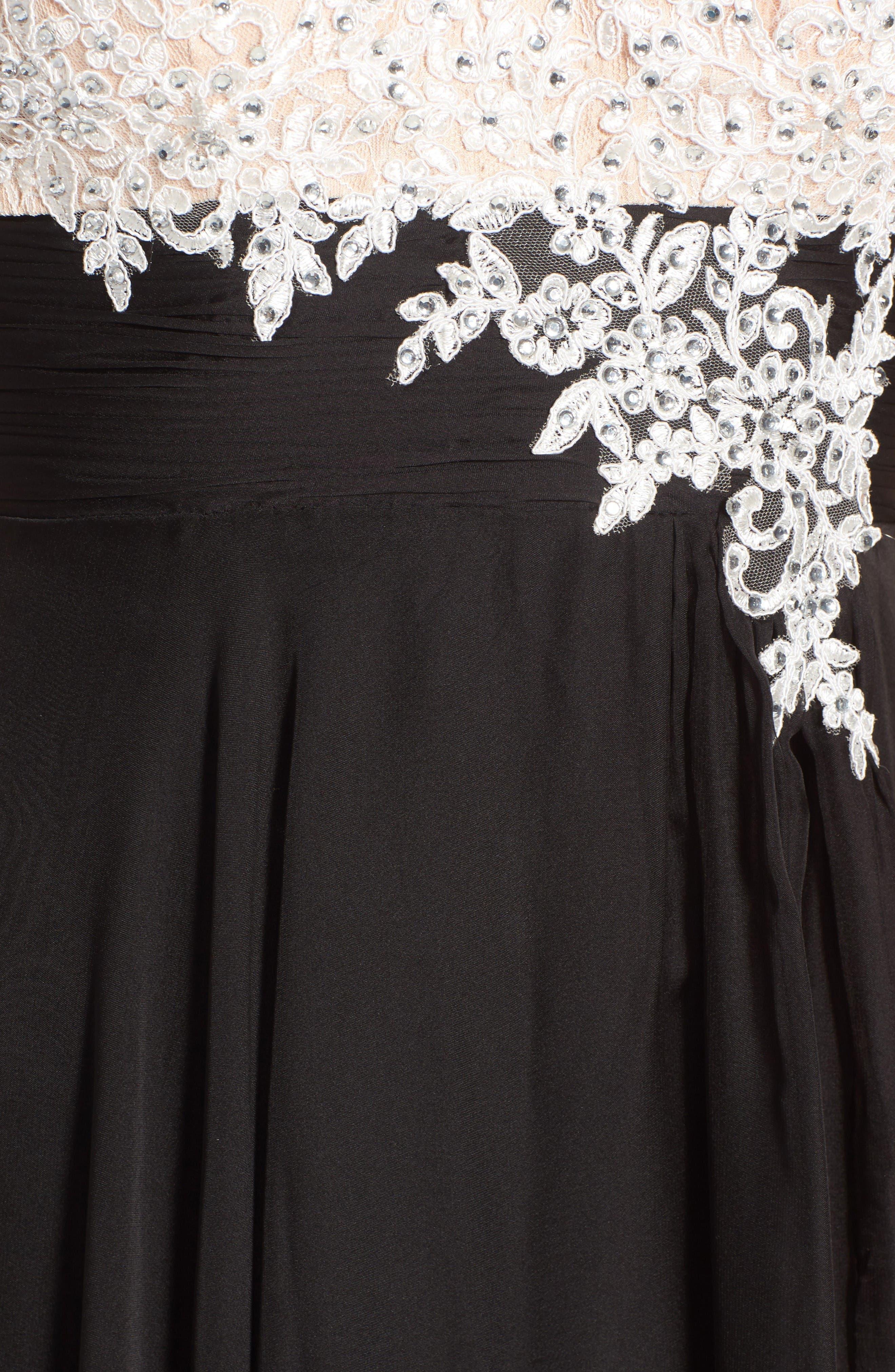 Alternate Image 5  - Mac Duggal Mixed Media Gown