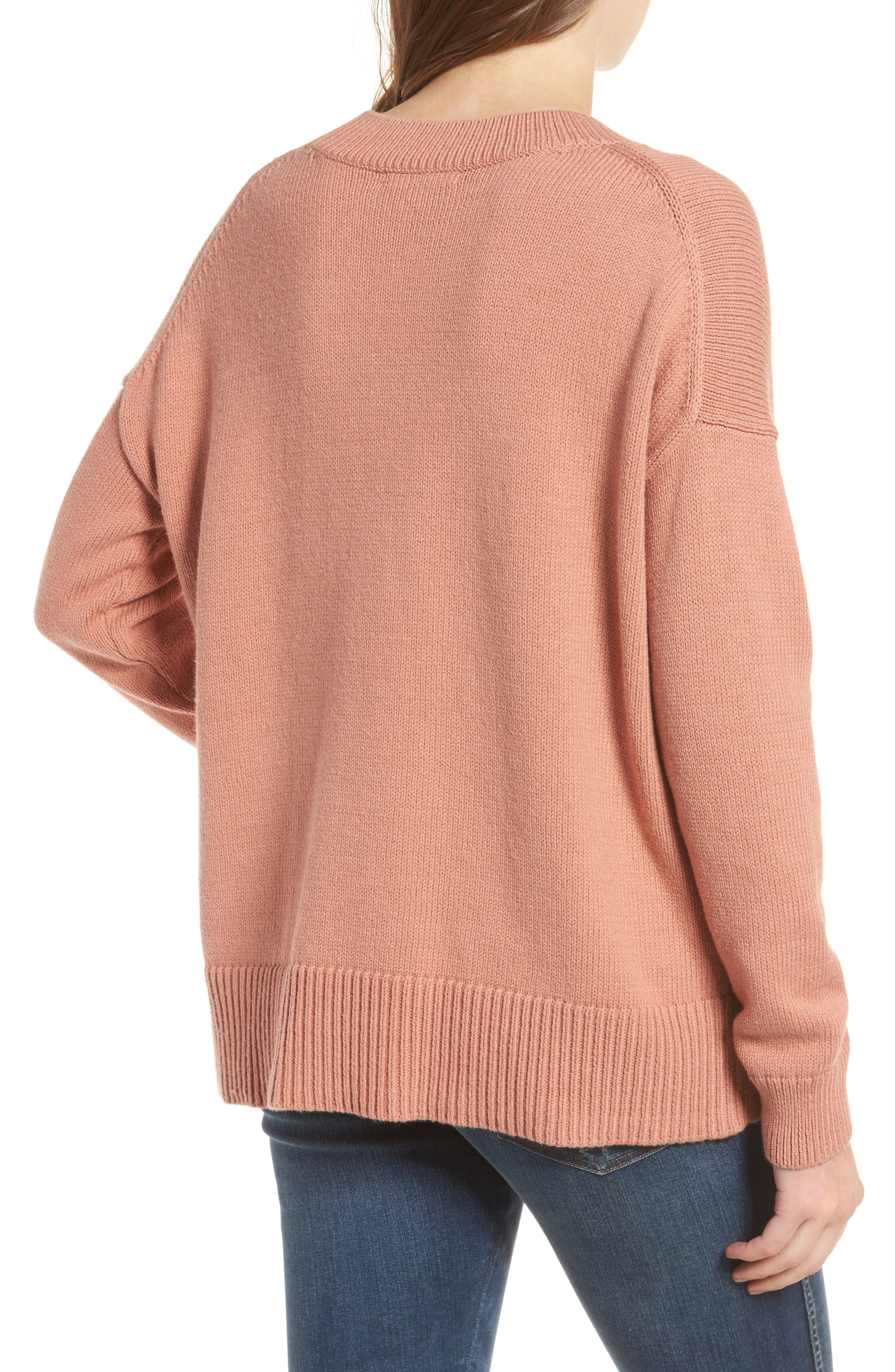 Alternate Image 2  - Madewell Brownstone Side Button Sweater