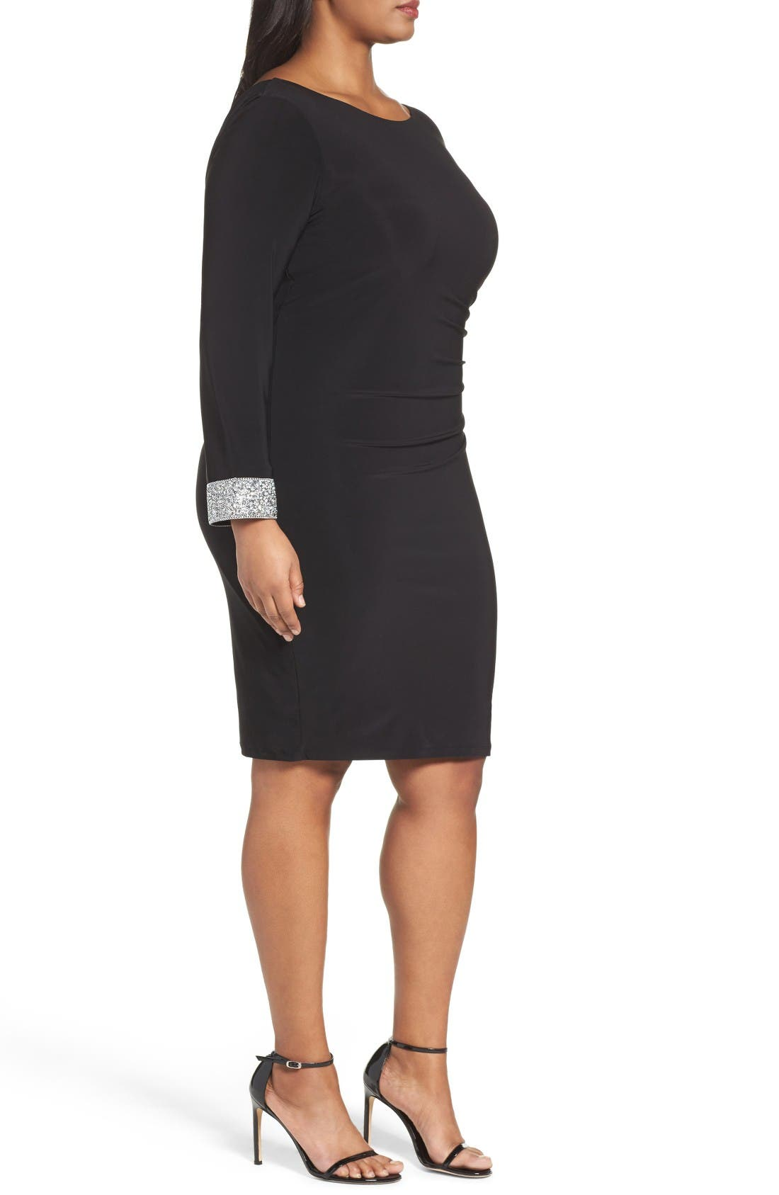 Alternate Image 3  - Marina Open Back Sheath Dress (Plus Size)