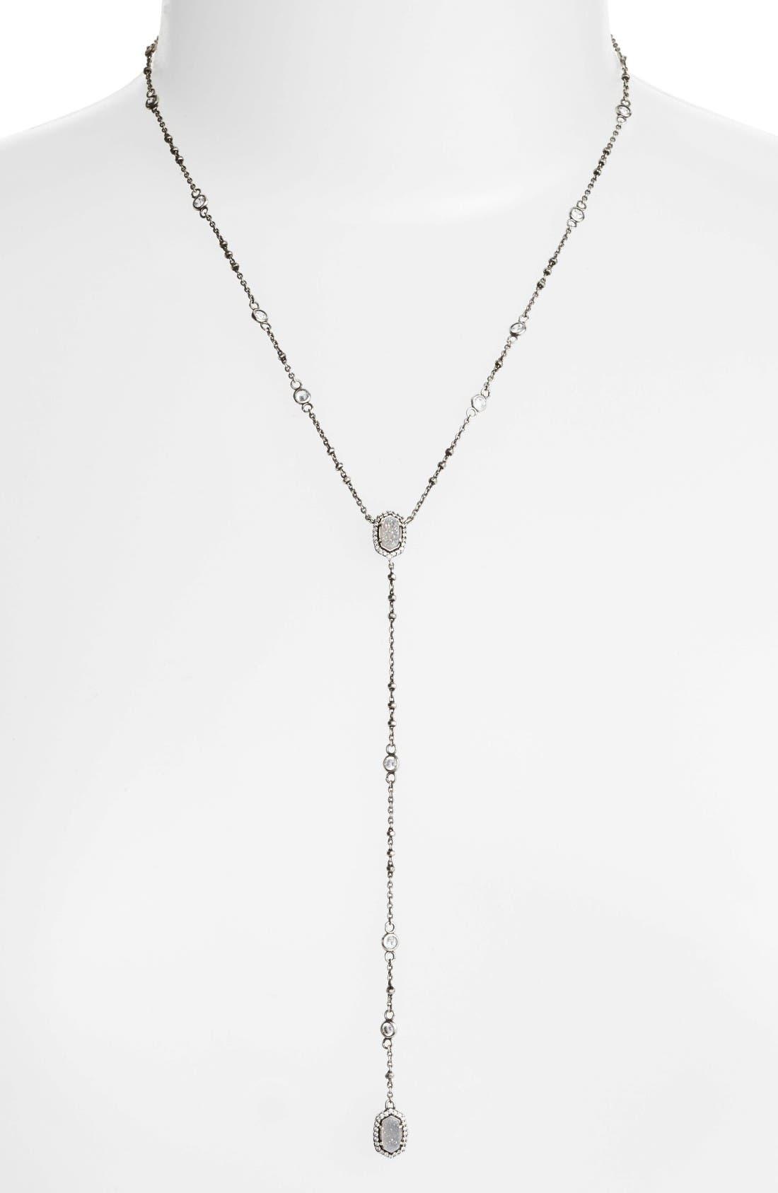 KENDRA SCOTT Claudia Crystal Y-Necklace