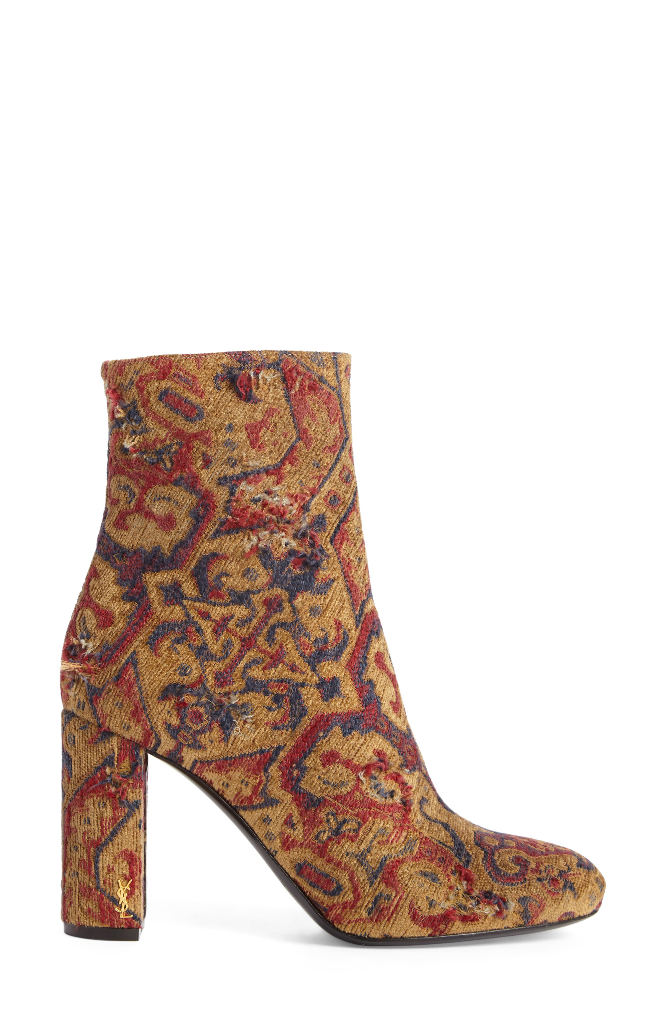 Alternate Image 4  - Saint Laurent Loulou - Tapestry Bootie (Women)
