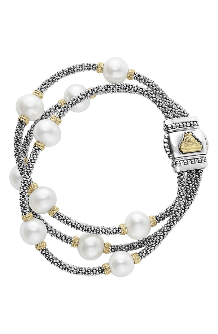 Lagos Luna Pearl Caviar Multistrand Bracelet Nordstrom