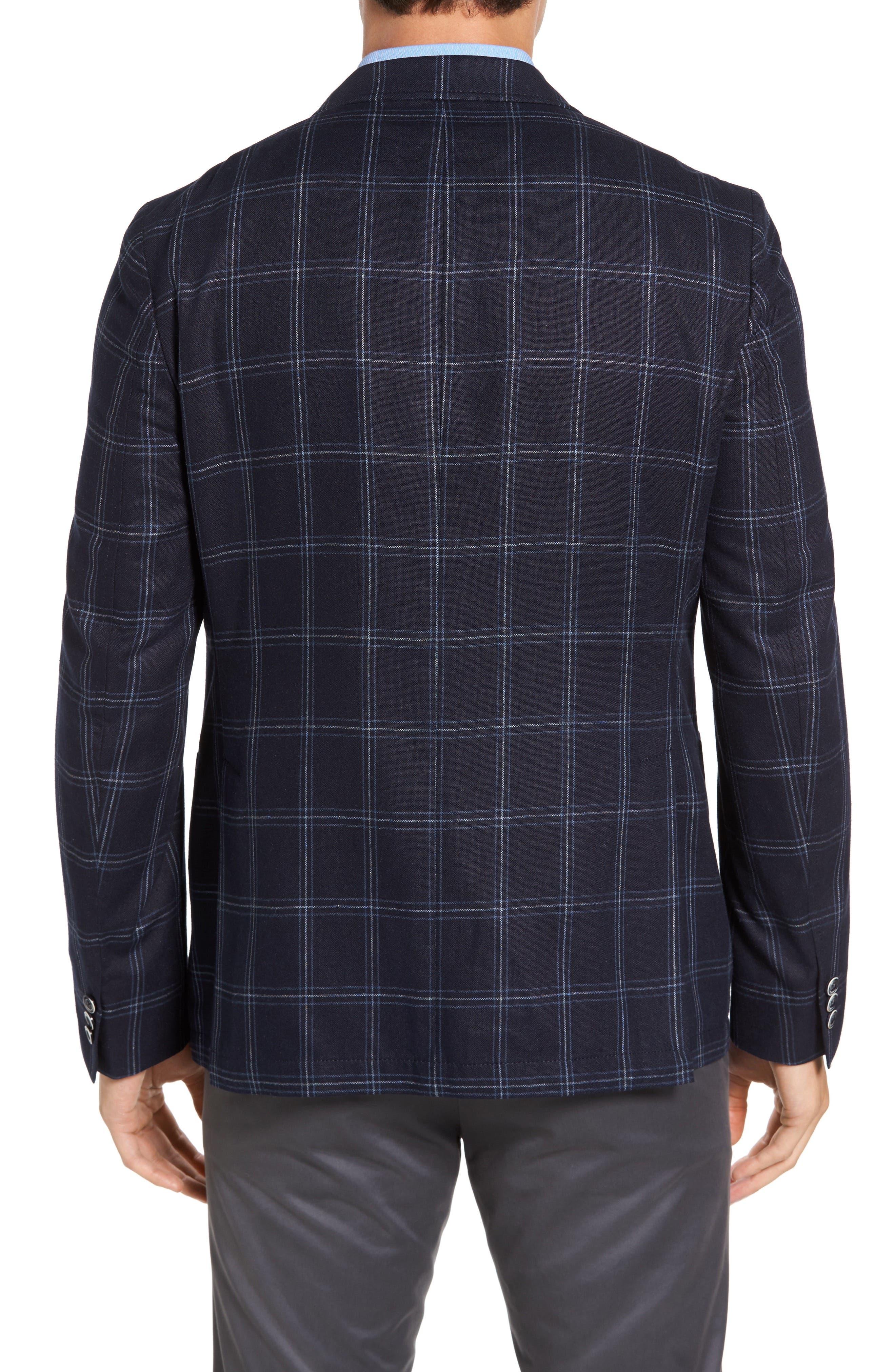 Alternate Image 2  - Kroon White Classic Fit Check Silk Sport Coat