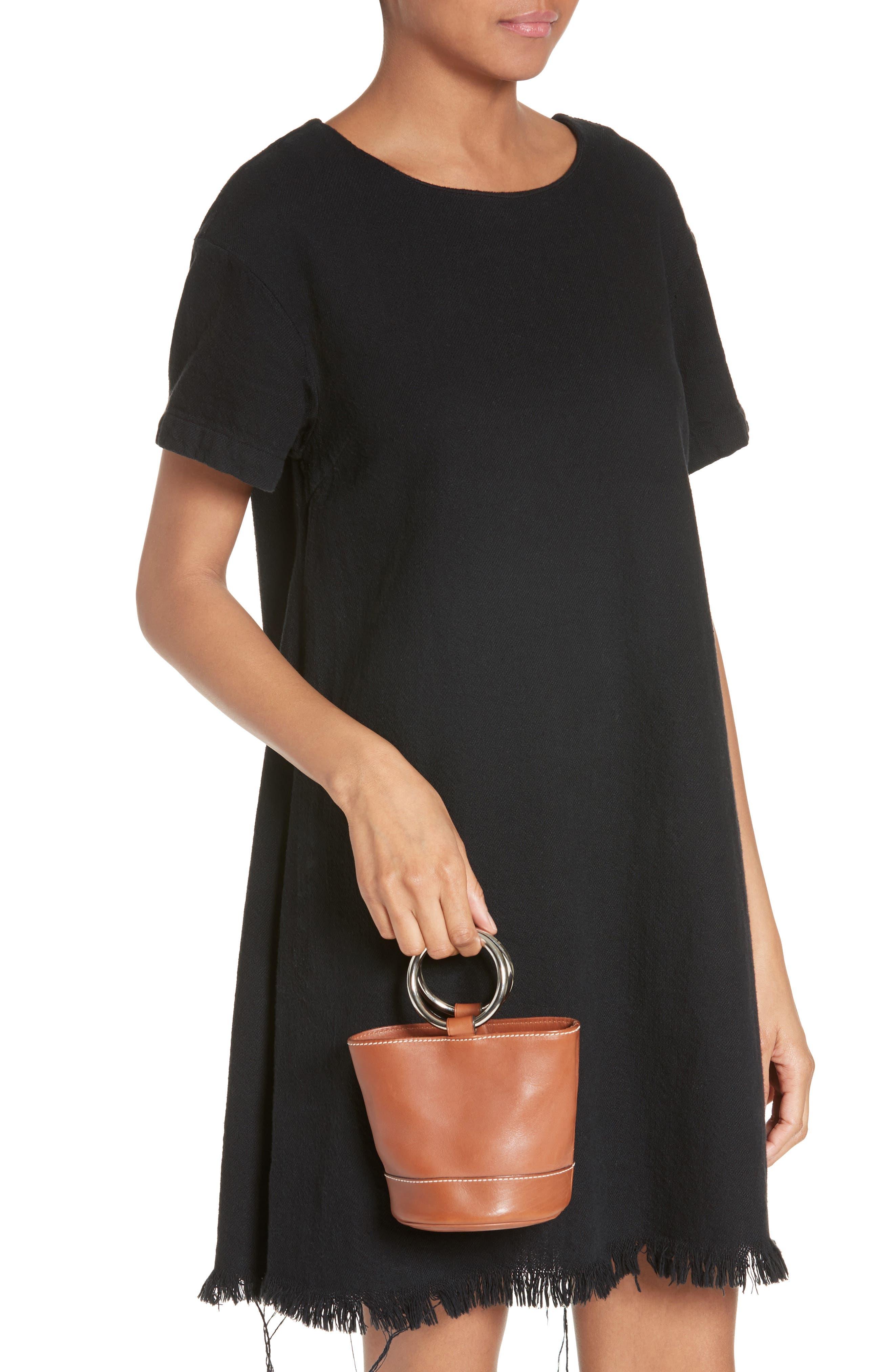 Bonsai Pebbled Leather Bucket Bag,                             Alternate thumbnail 2, color,                             Tan