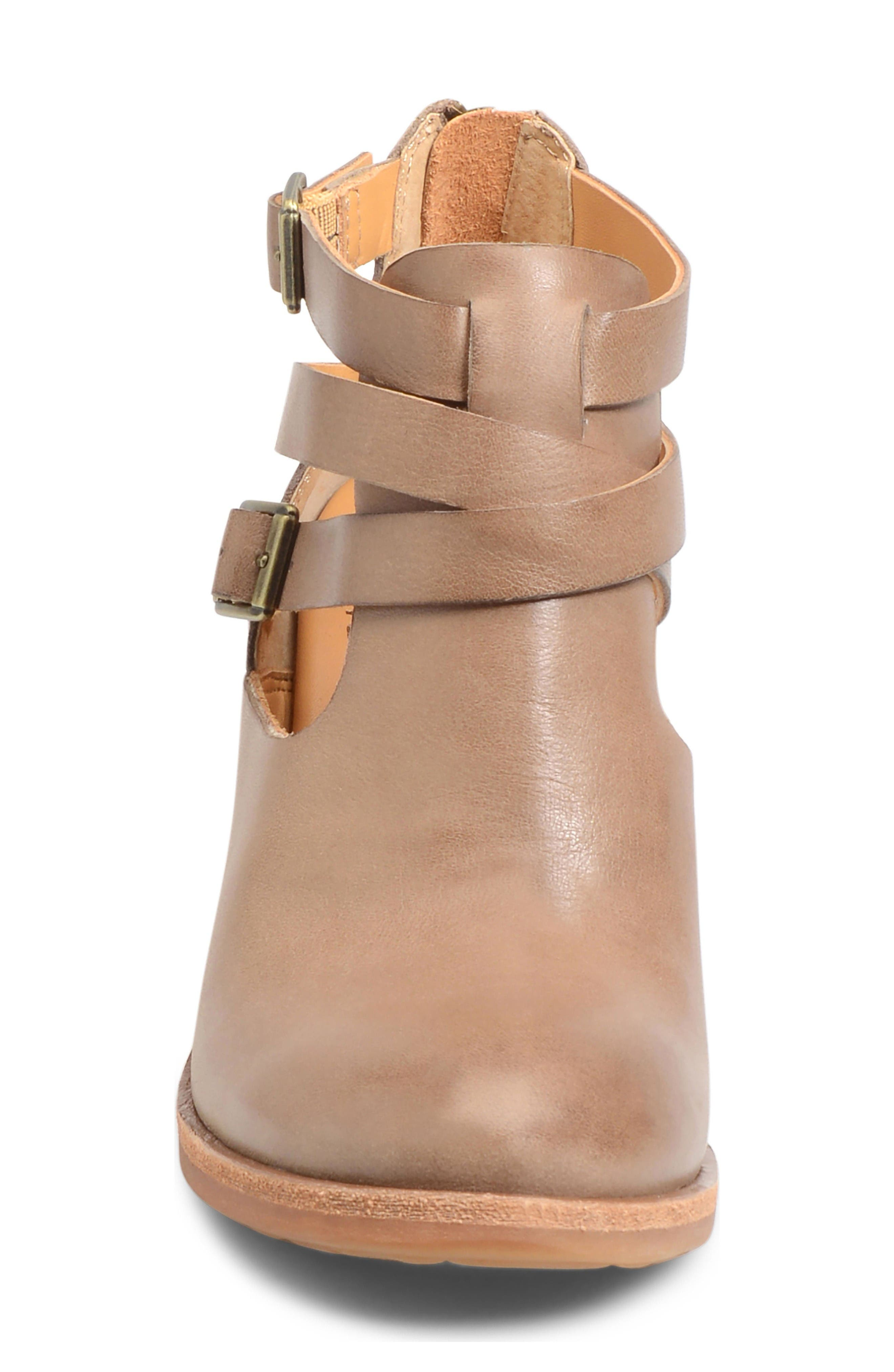 'Stina' Leather Bootie,                             Alternate thumbnail 3, color,                             Taupe Leather