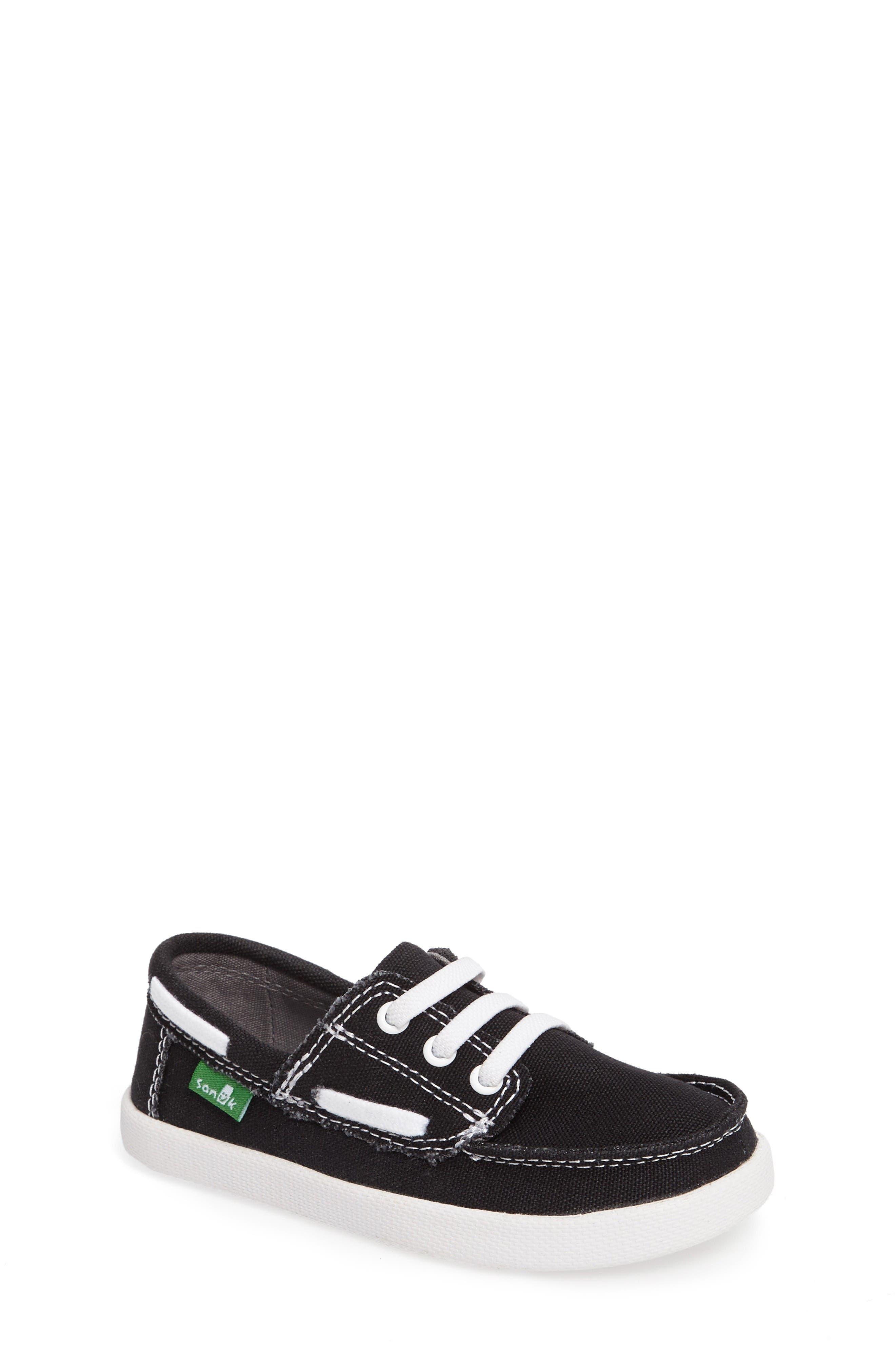 Lil Deck Hand Slip-On Sneaker,                             Main thumbnail 1, color,                             Black