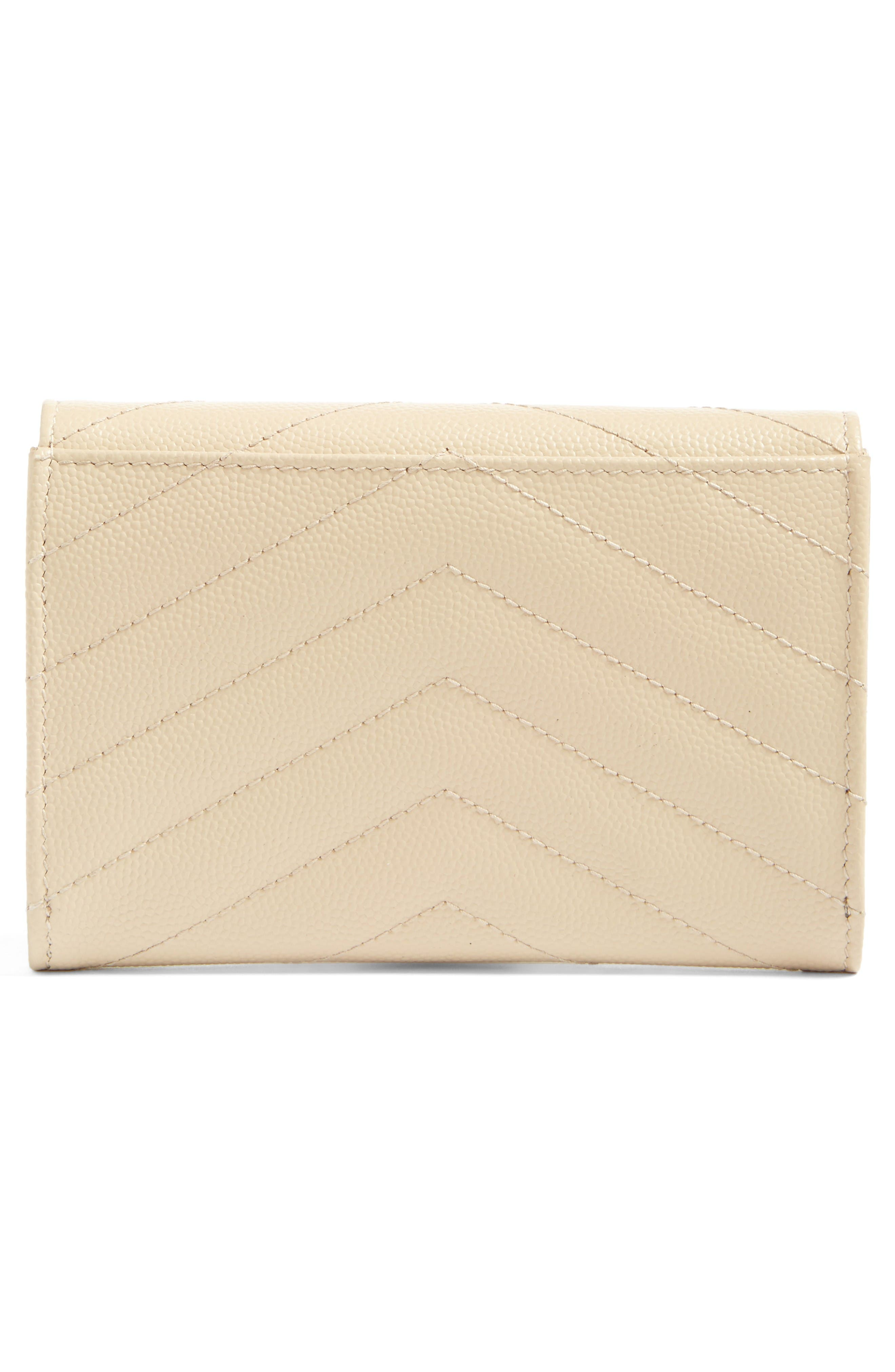 Alternate Image 3  - Saint Laurent 'Monogram' Quilted Leather French Wallet