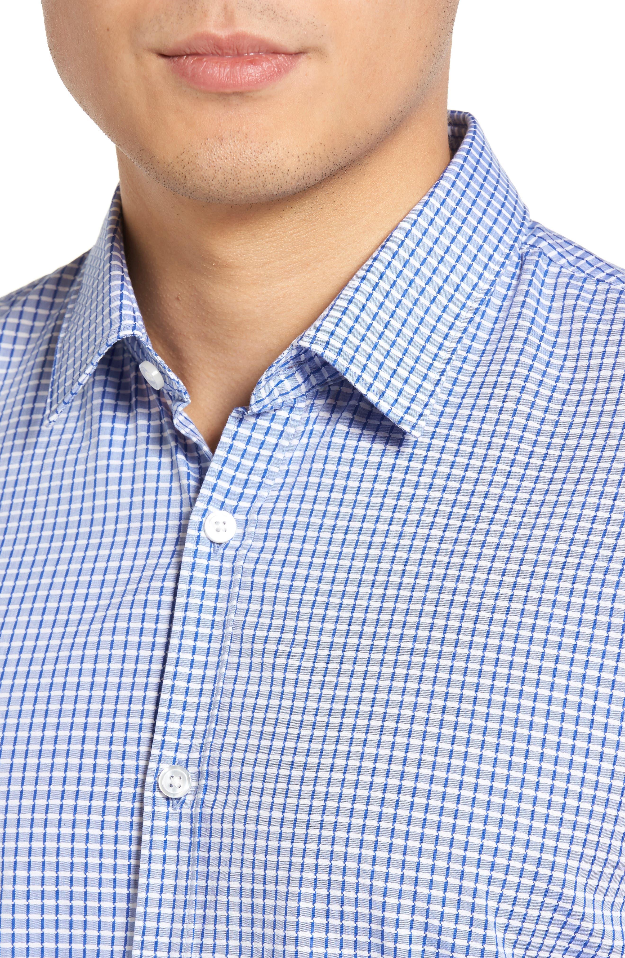 Alternate Image 4  - BOSS Ronn Check Sport Shirt