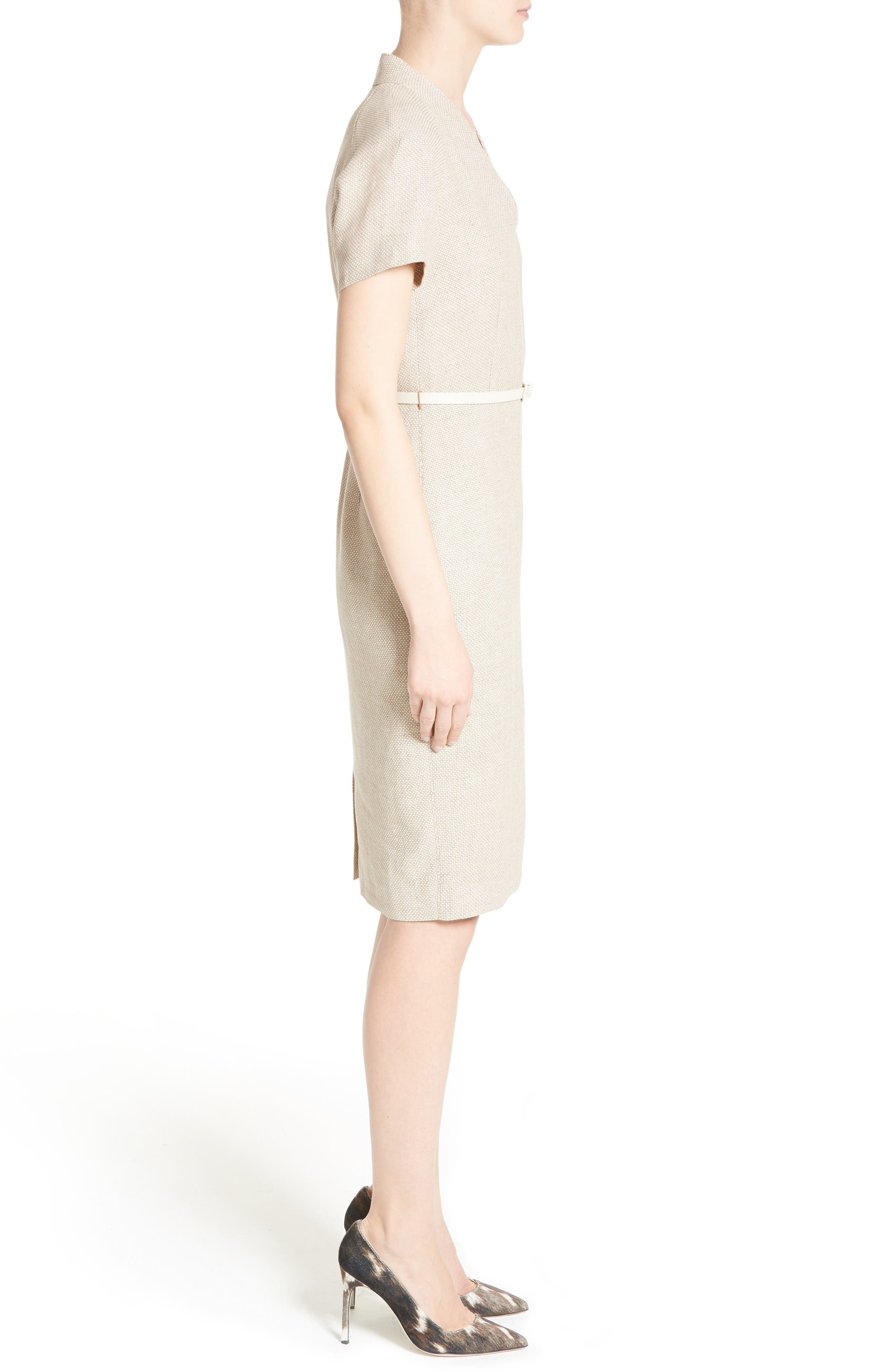 Alternate Image 5  - Max Mara Azeglio Belted Linen Sheath Dress