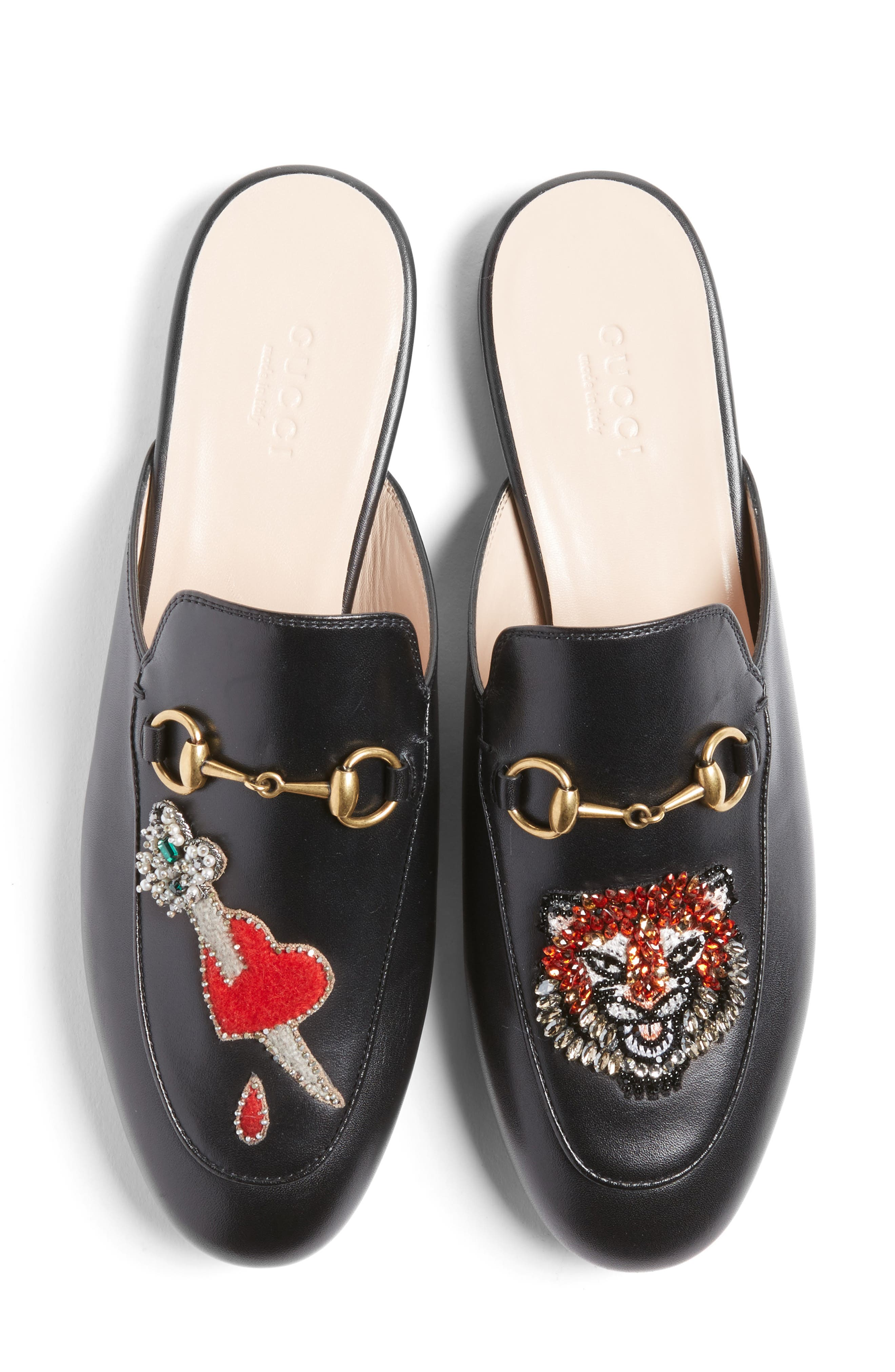 Alternate Image 1 Selected - Gucci Princetown Mule Loafer (Women)