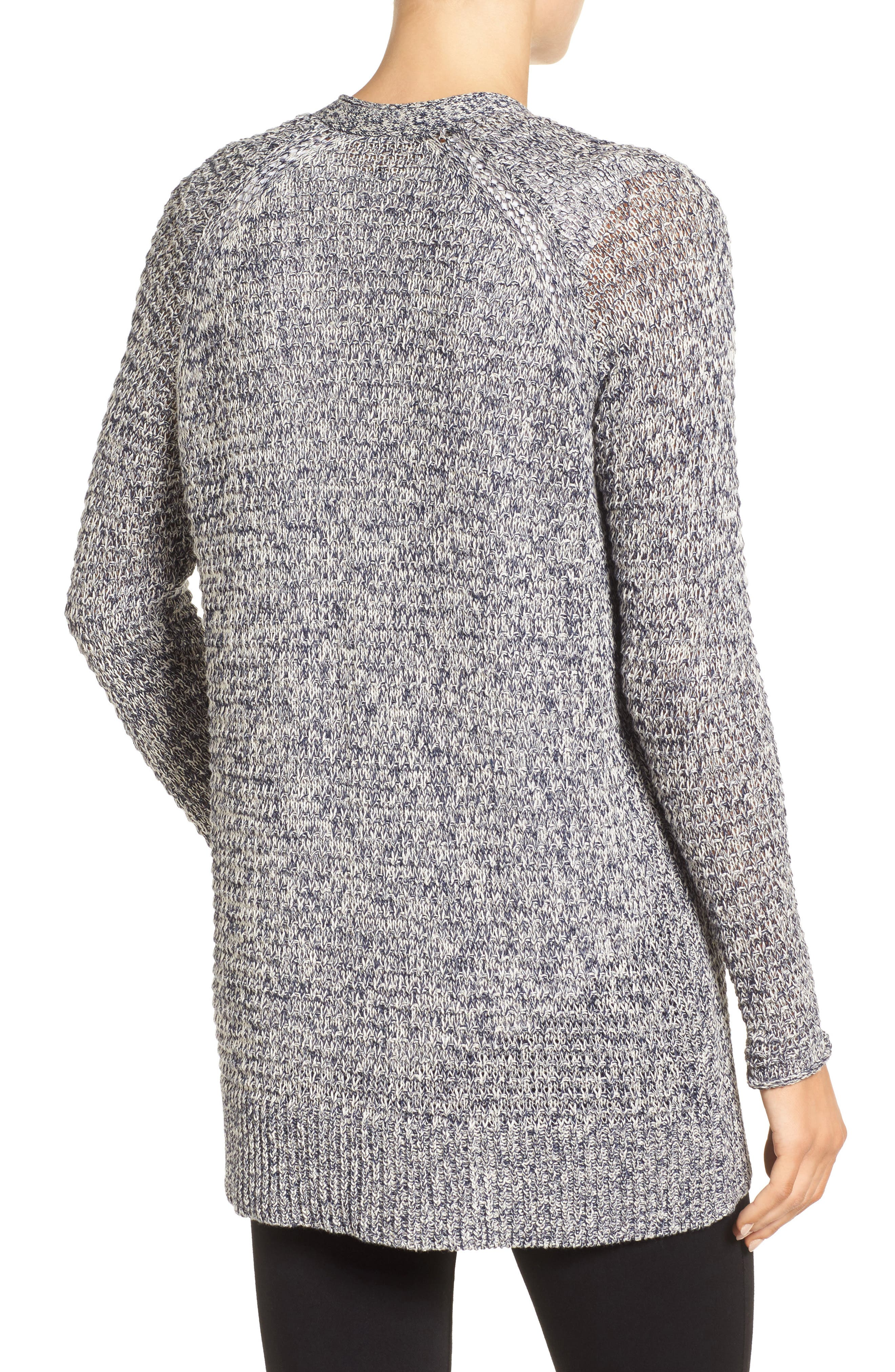 Alternate Image 2  - Caslon® Textured Cardigan (Regular & Petite)