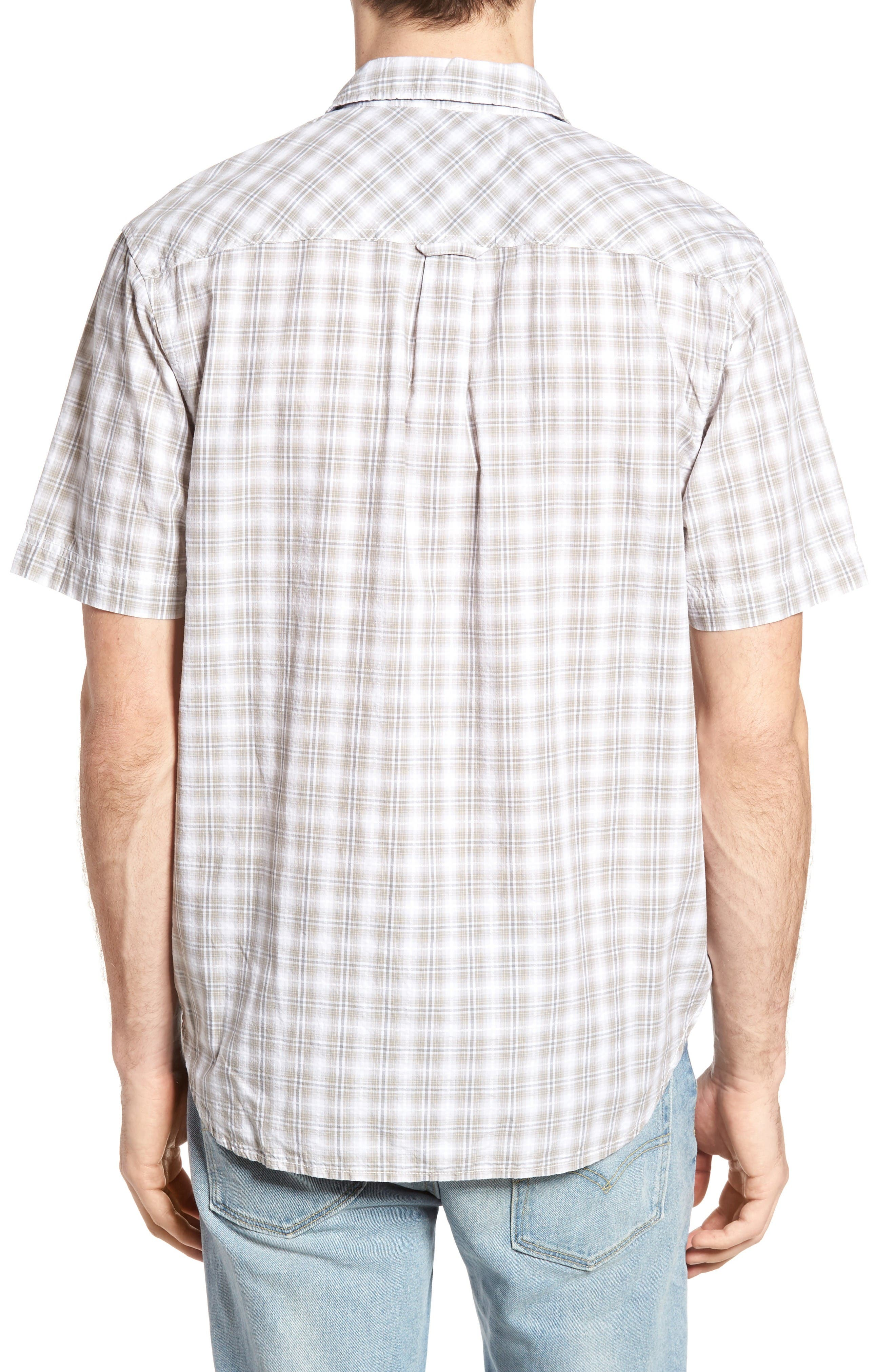 Soho Plaid Cotton Sport Shirt,                             Alternate thumbnail 2, color,                             Grey