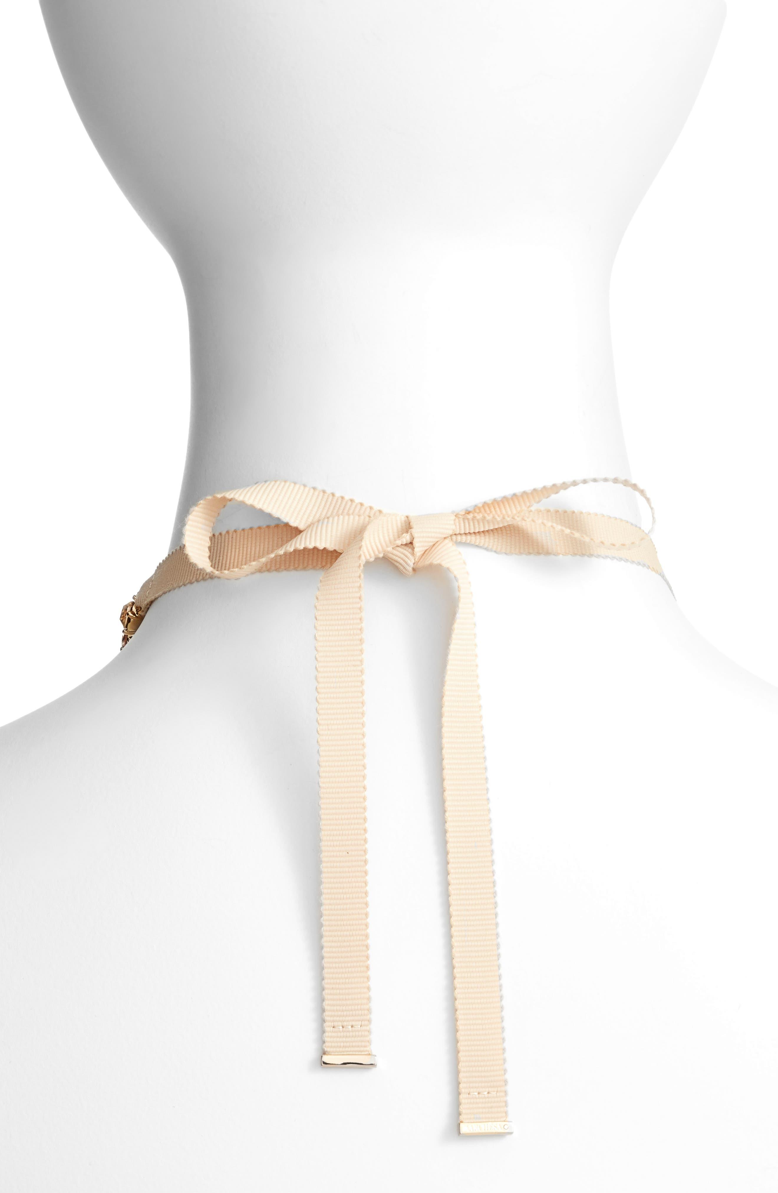 Adjustable Necklace,                             Alternate thumbnail 2, color,                             Blush / Gold